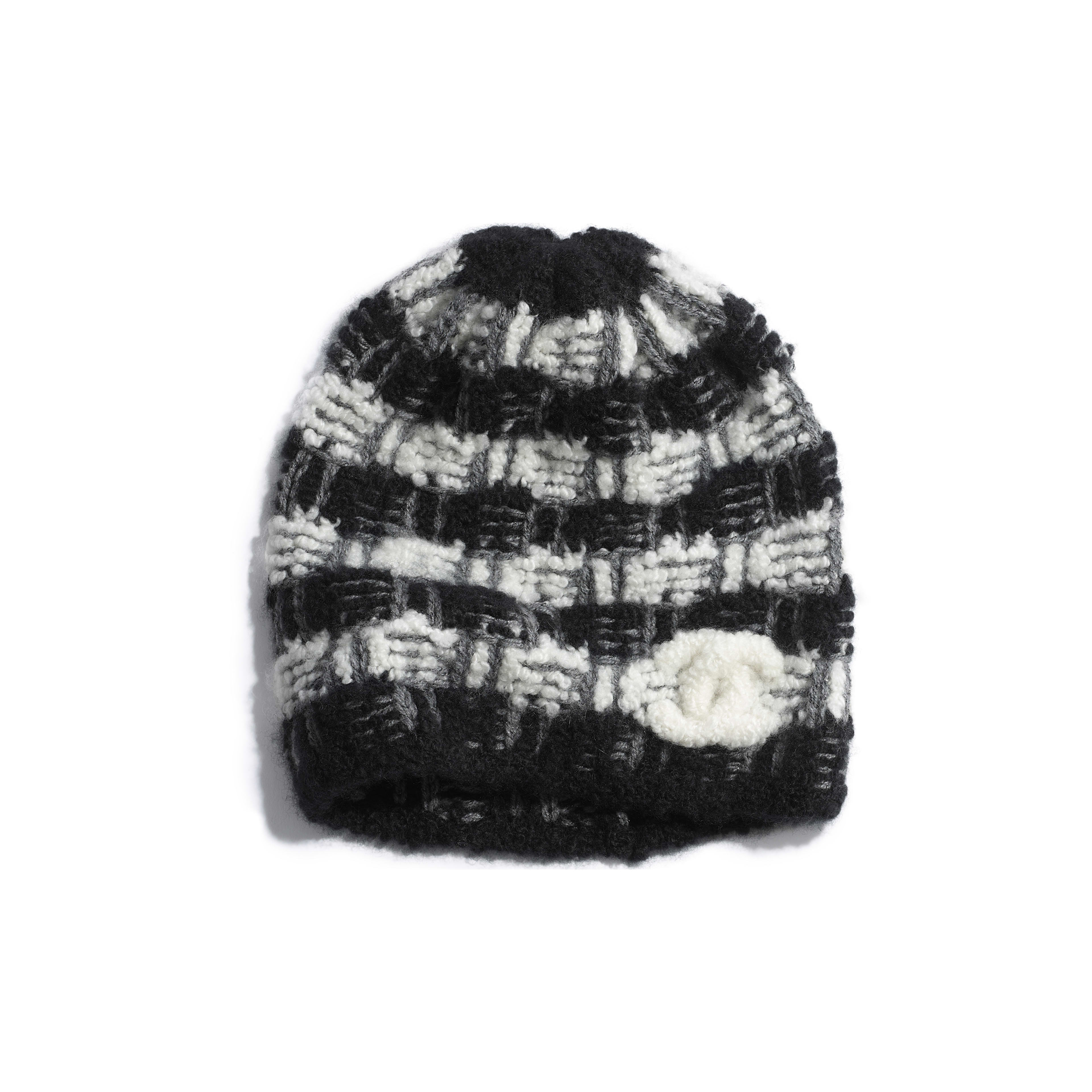 Beanie - Black & Gray - Cashmere - Default view - see full sized version