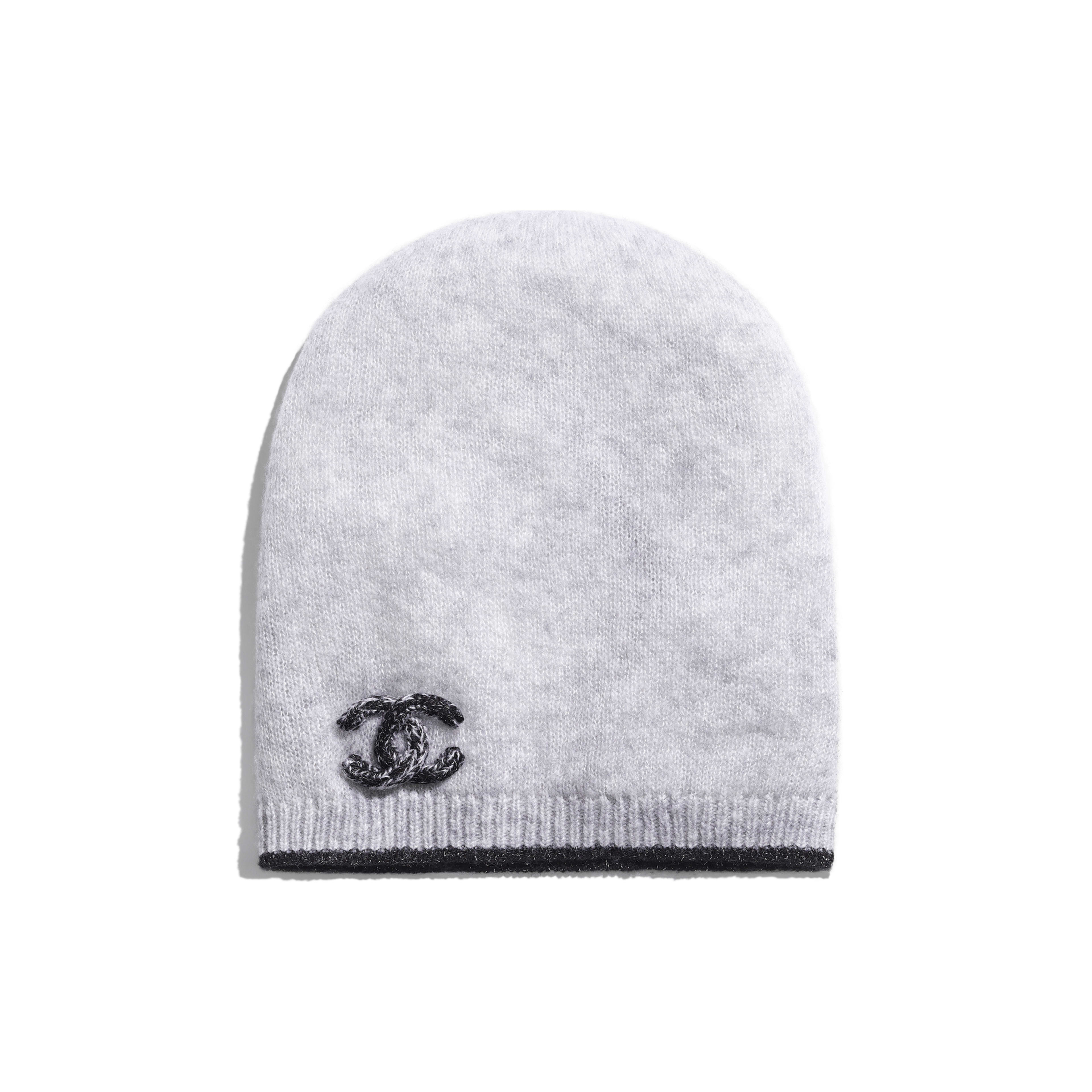 Beanie - Grey - Cashmere & Silk - Default view - see full sized version