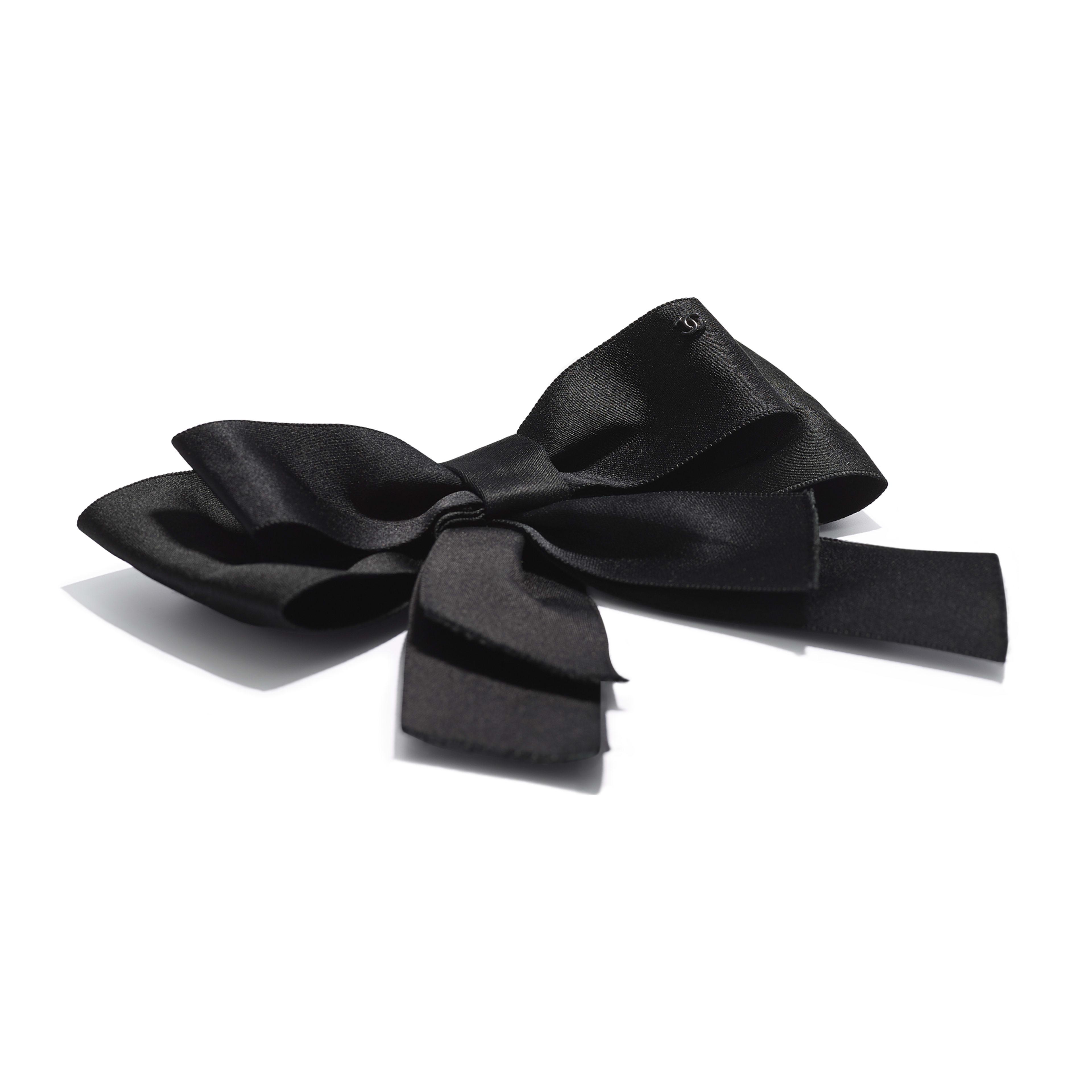 Bow - Black - Silk Satin - Alternative view - see full sized version