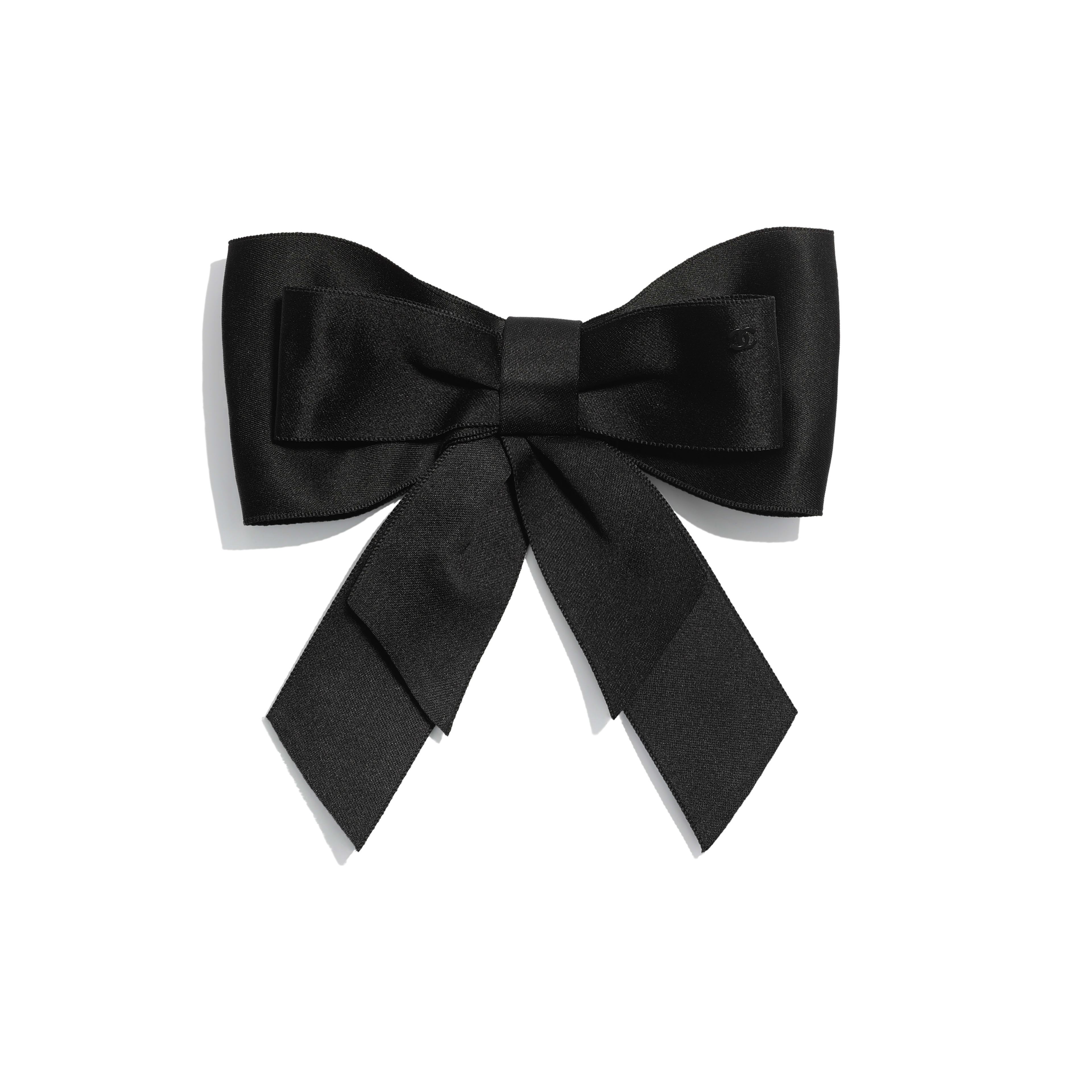 Bow - Black - Silk Satin - Default view - see full sized version