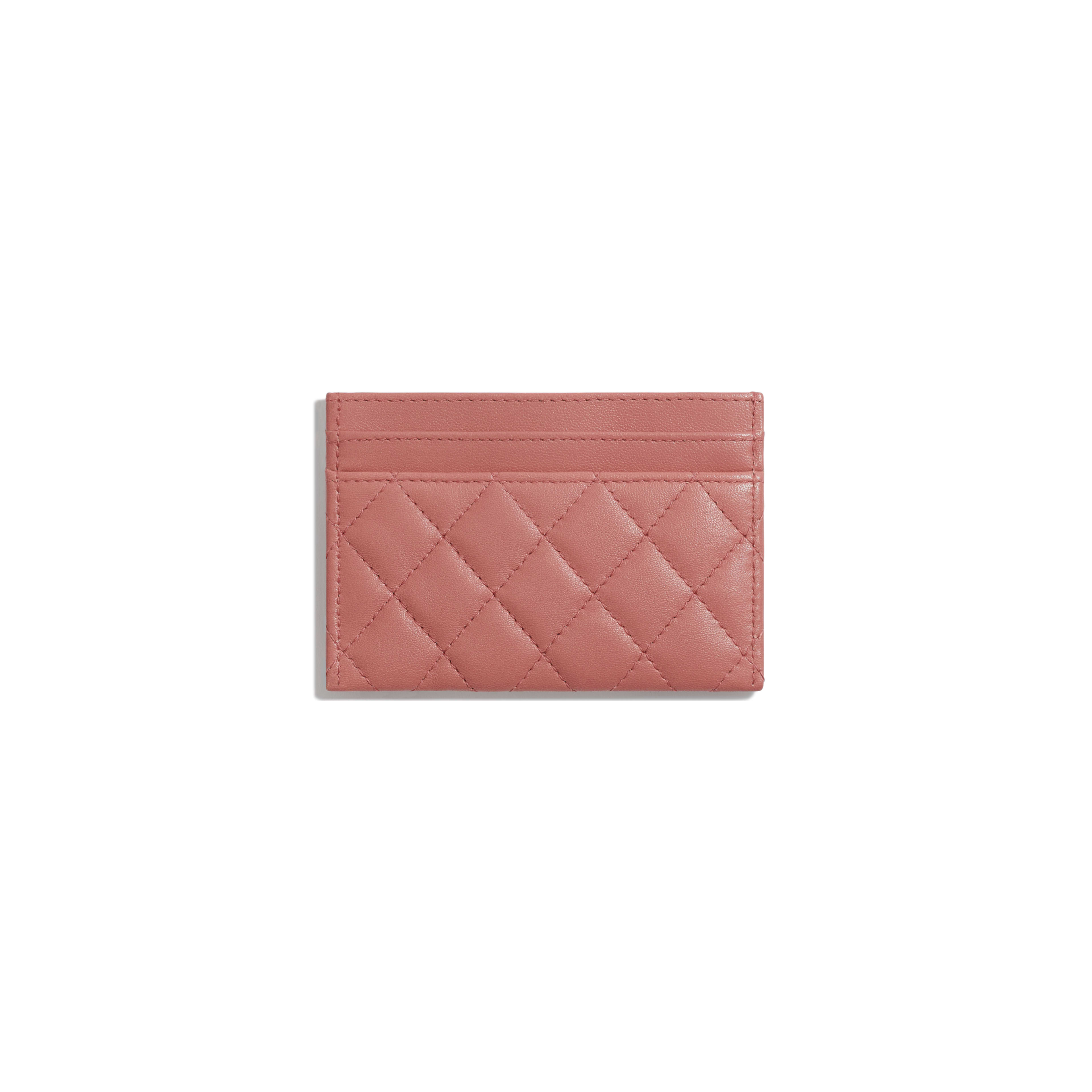 BOY CHANEL Card Holder - Pink - Lambskin - Alternative view - see full sized version