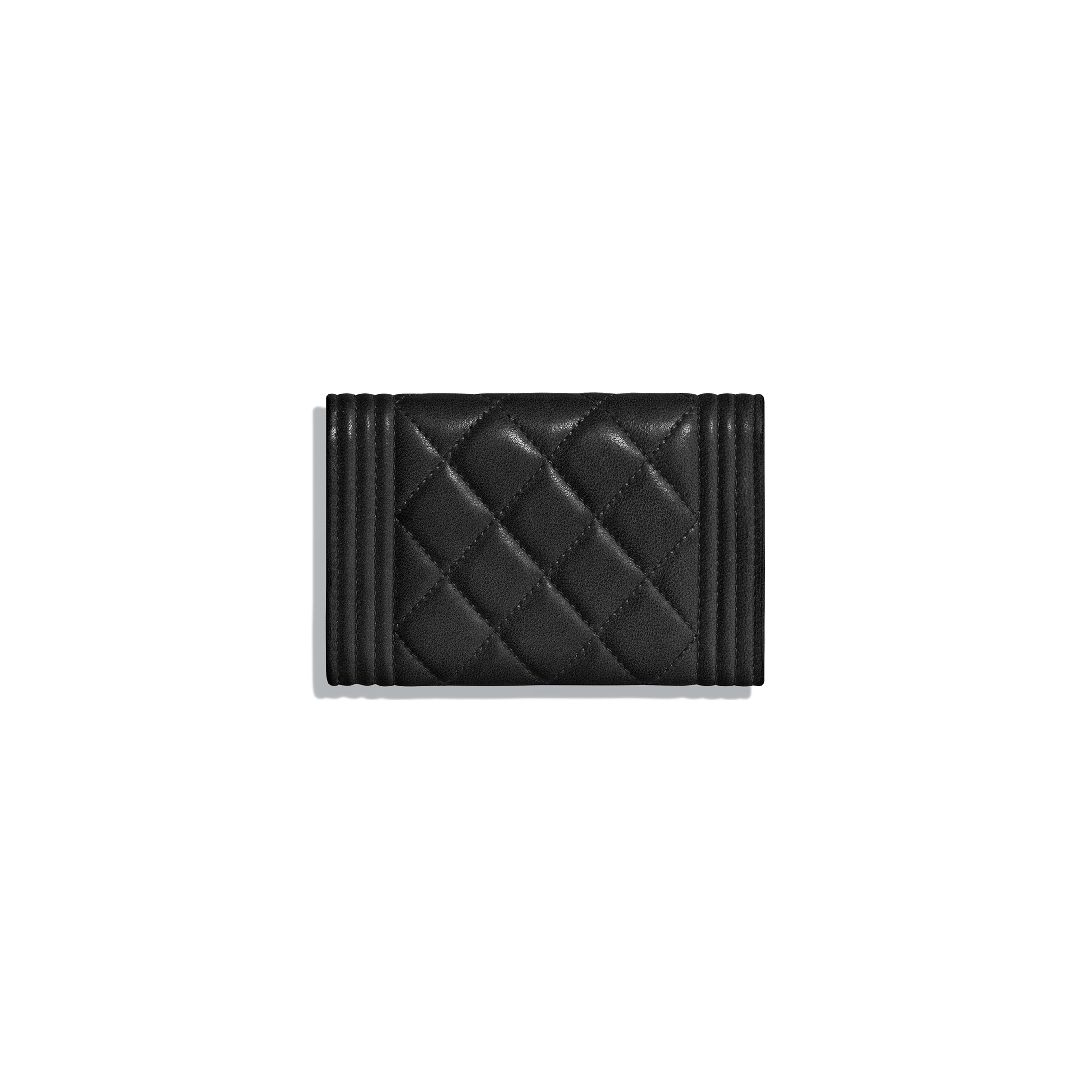 BOY CHANEL Flap Card Holder - Black - Lambskin - Alternative view - see full sized version