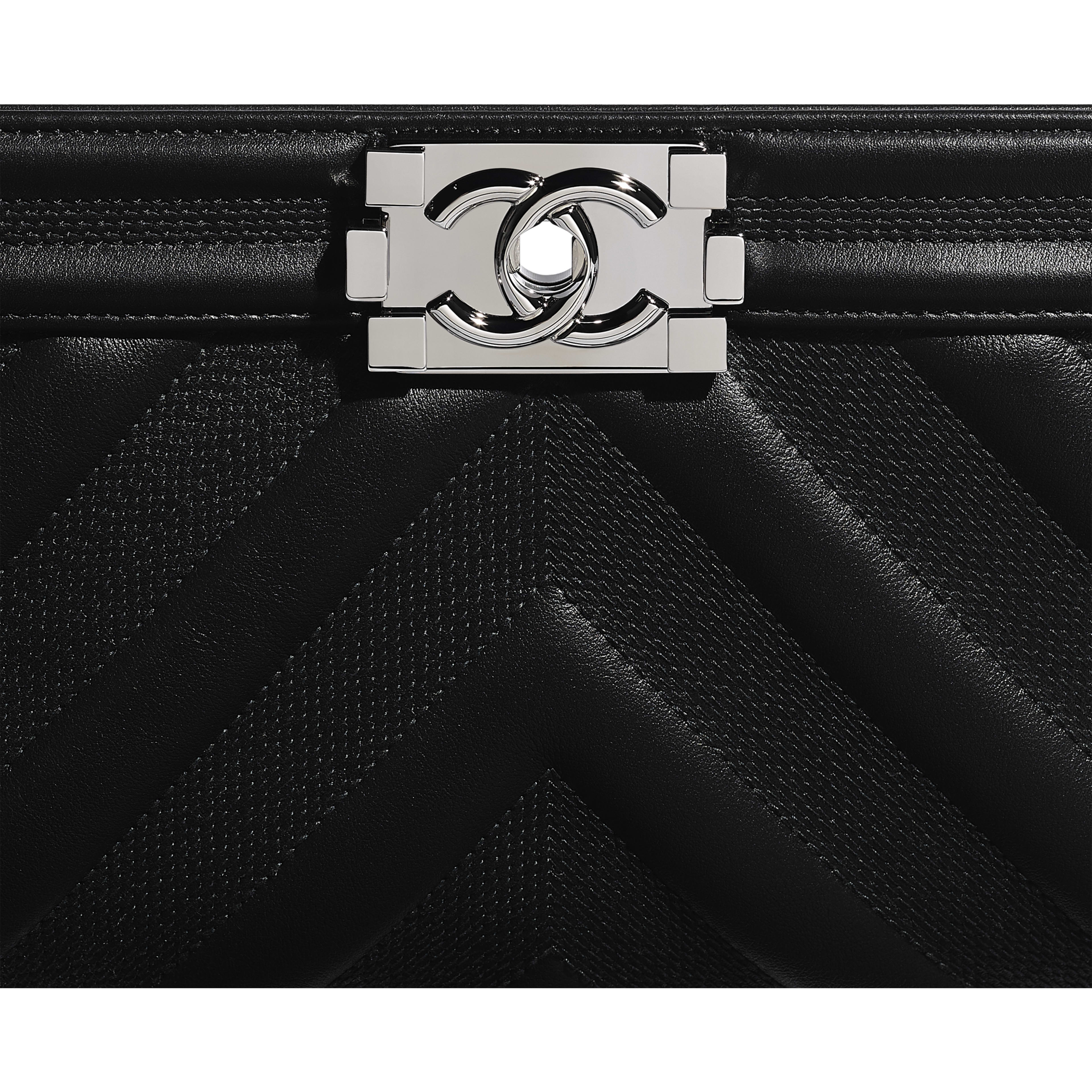 BOY CHANEL Handbag - Black - Calfskin & Ruthenium-Finish Metal - Extra view - see full sized version