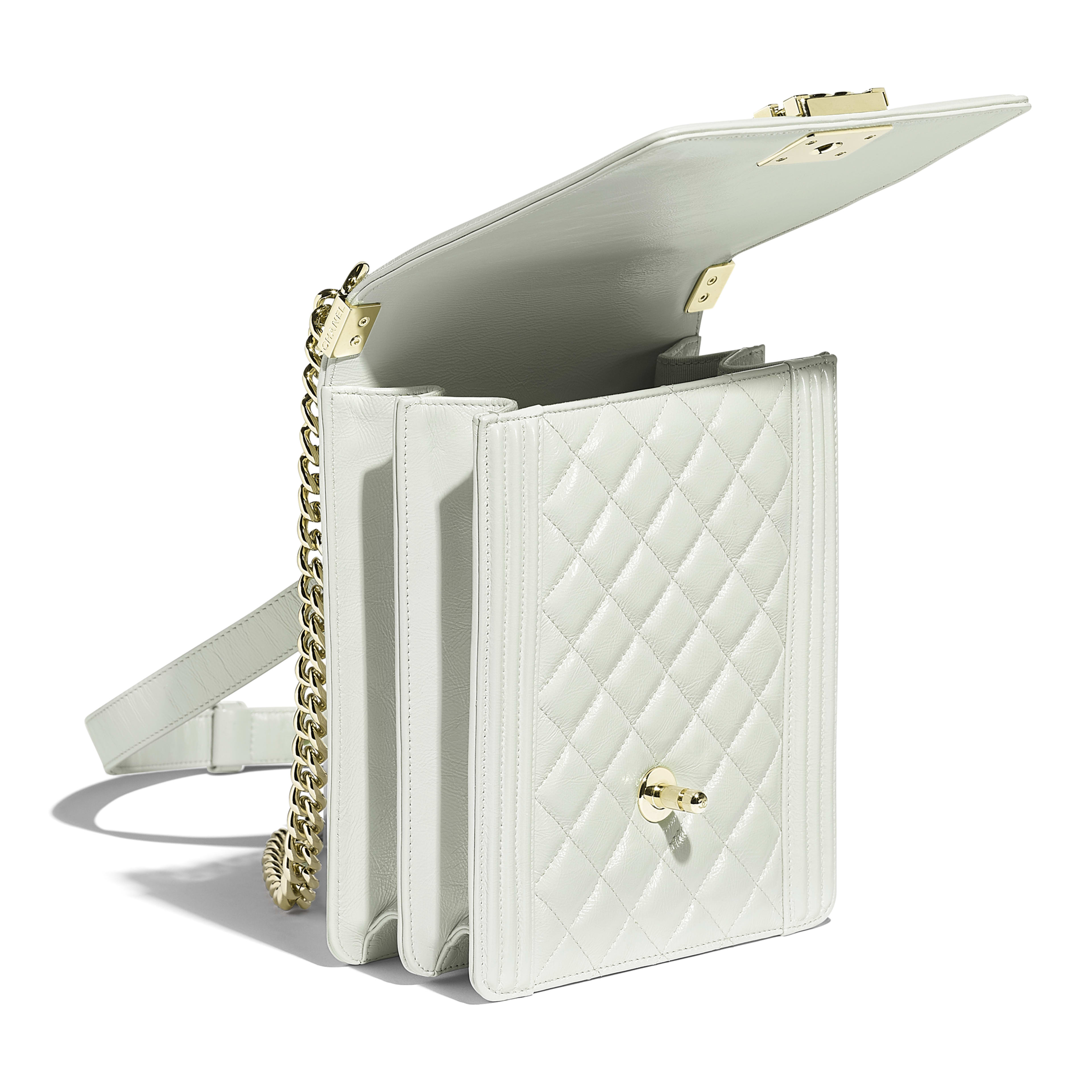 BOY CHANEL Handbag - Light Gray - Iridescent Calfskin & Gold-Tone Metal - Other view - see full sized version