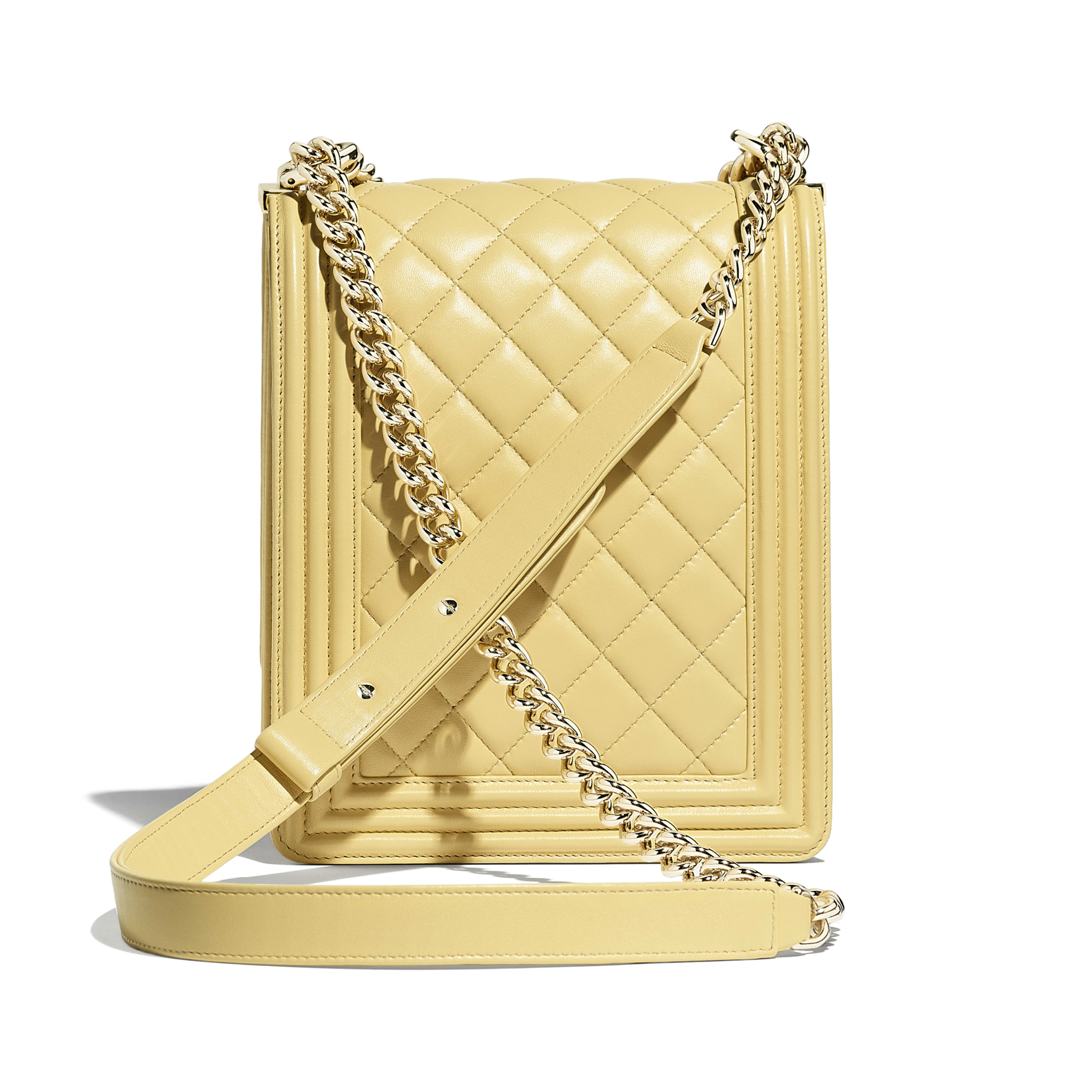 BOY CHANEL Handbag - Yellow - Calfskin & Gold-Tone Metal - Alternative view - see full sized version