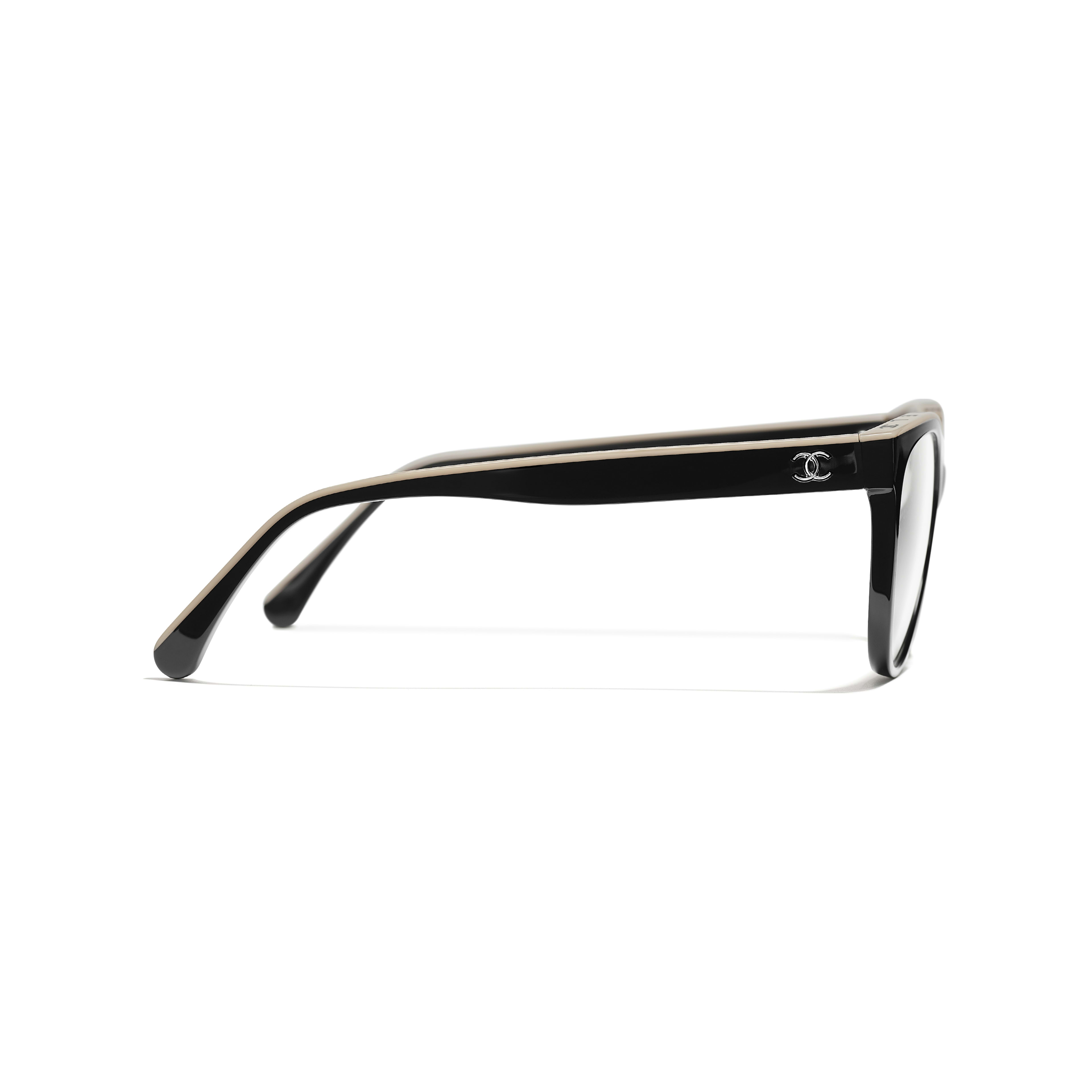 Butterfly Eyeglasses - Black & Beige - Acetate - Other view - see full sized version
