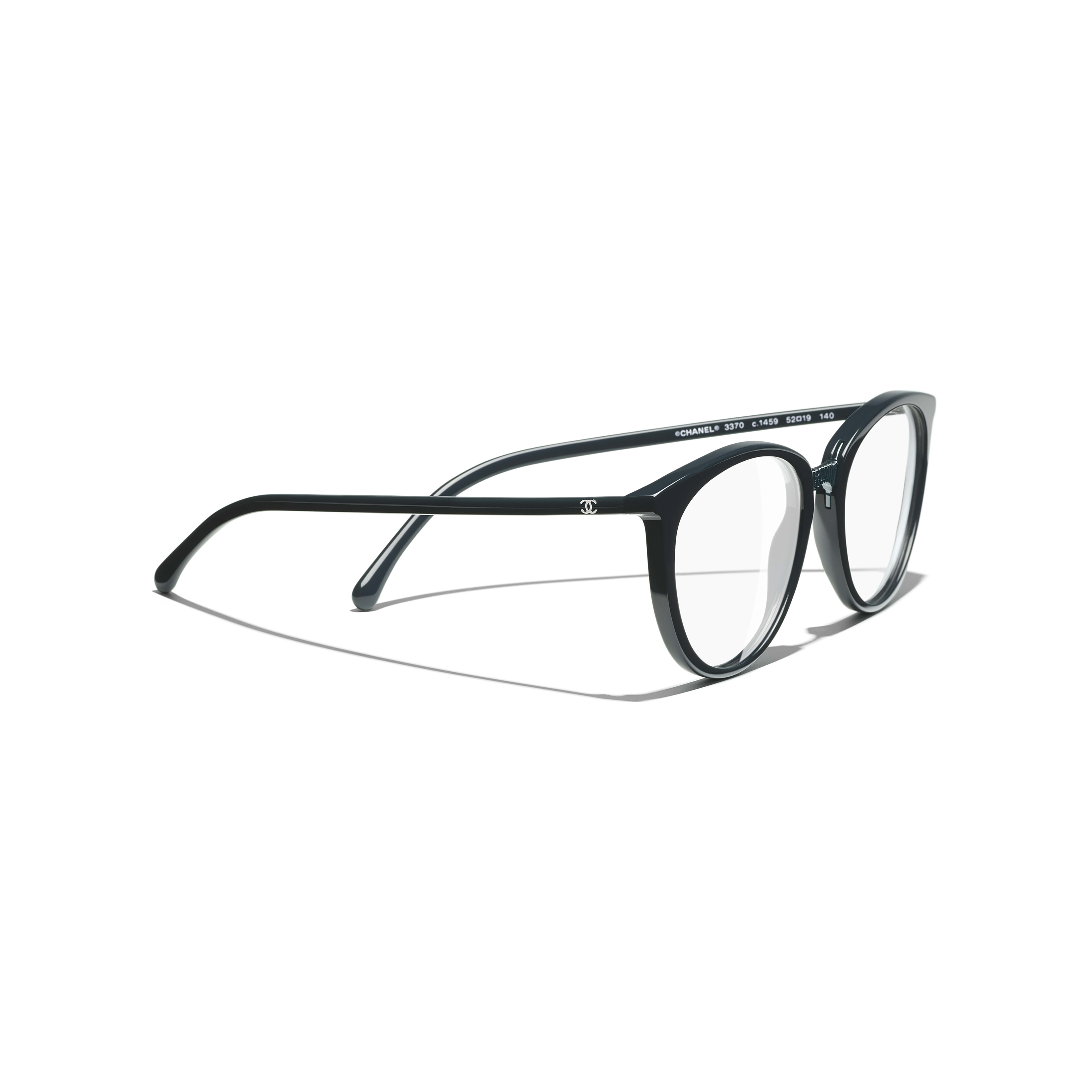 Butterfly Eyeglasses - Dark Green - Acetate - Extra view - see full sized version