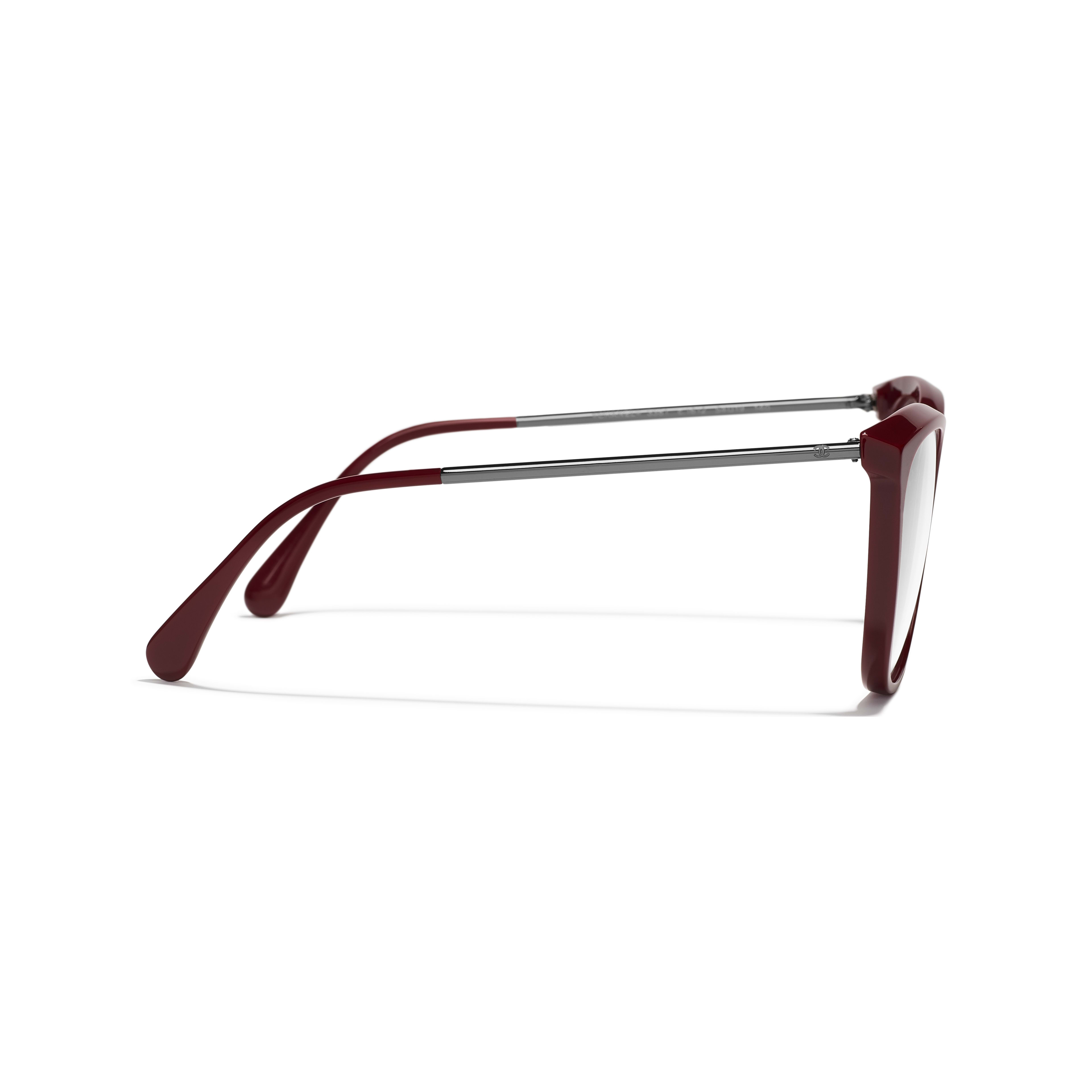 Butterfly Eyeglasses - Dark Red - Acetate & Metal - Other view - see full sized version