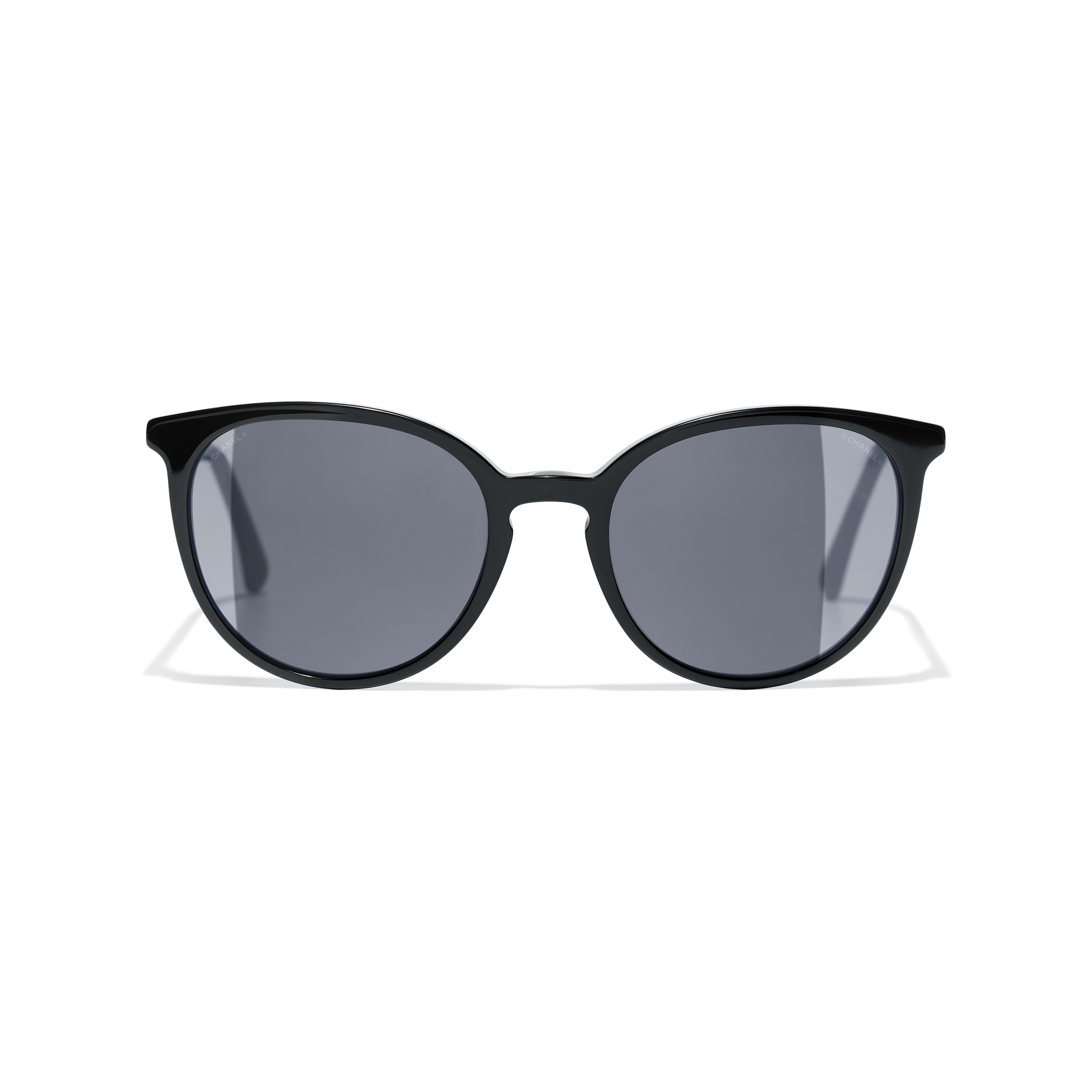 Butterfly Sunglasses - Black - Acetate & Imitation Pearls - Alternative view - see full sized version