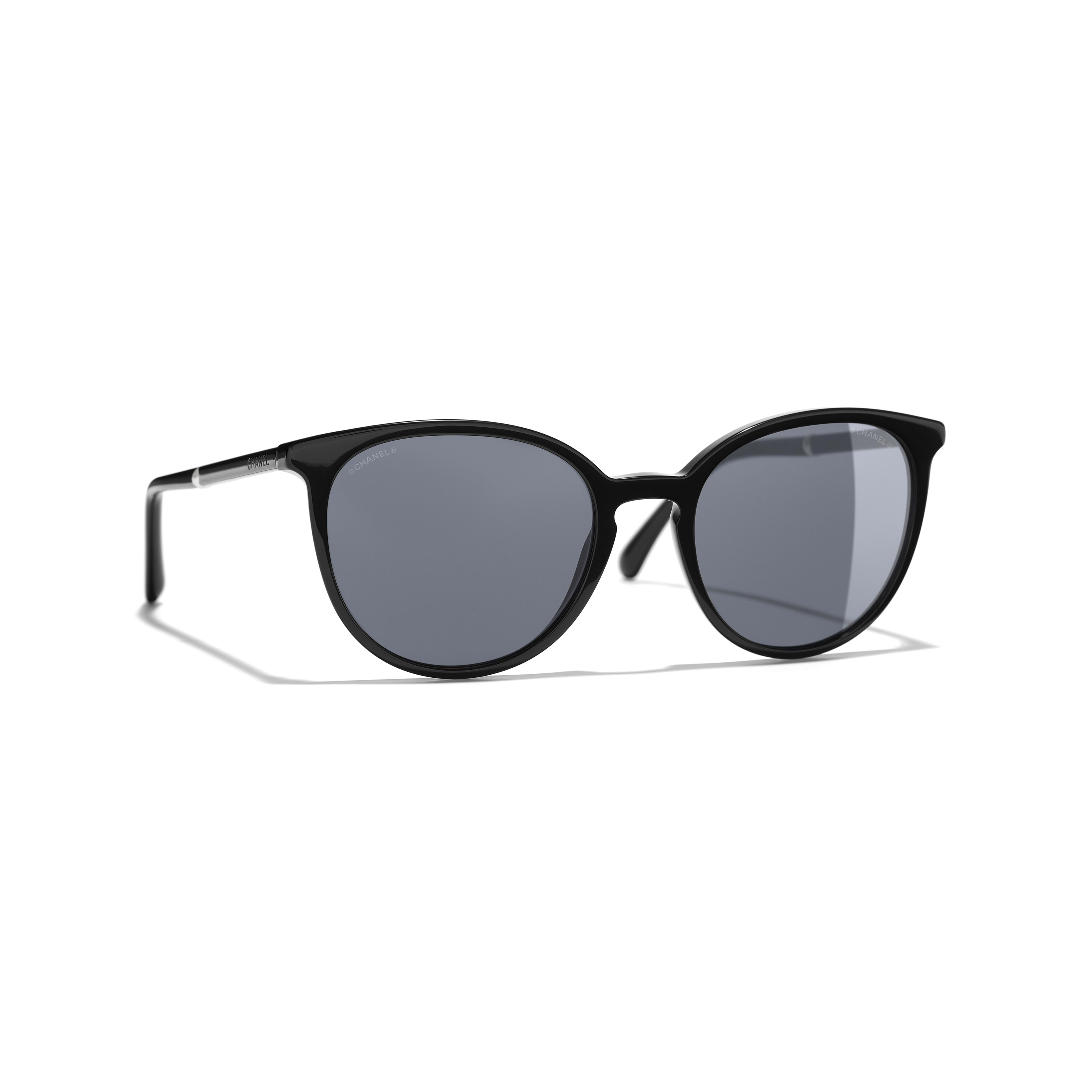 Butterfly Sunglasses - Black - Acetate & Imitation Pearls - Default view - see full sized version