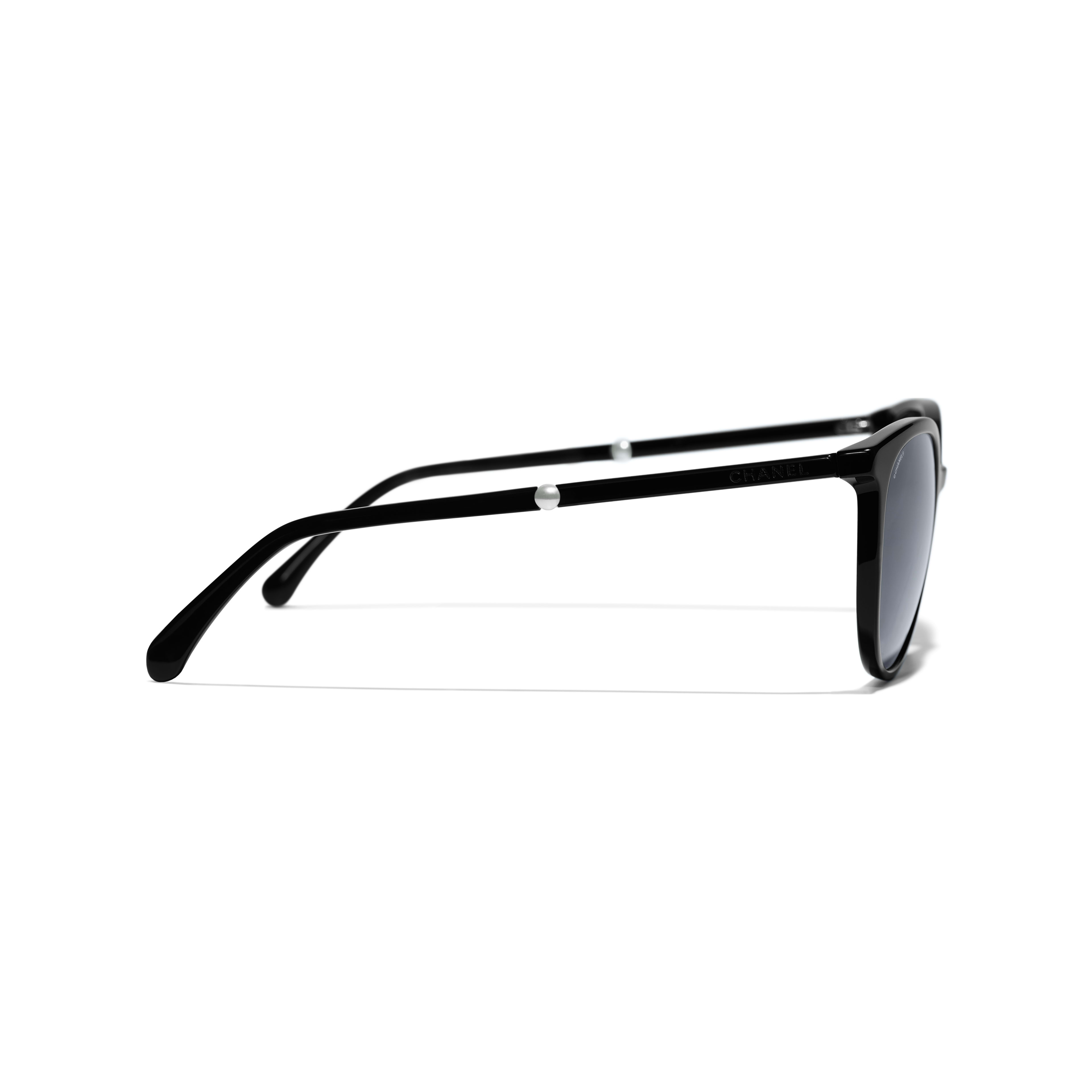 Butterfly Sunglasses - Black - Acetate & Imitation Pearls - Other view - see full sized version