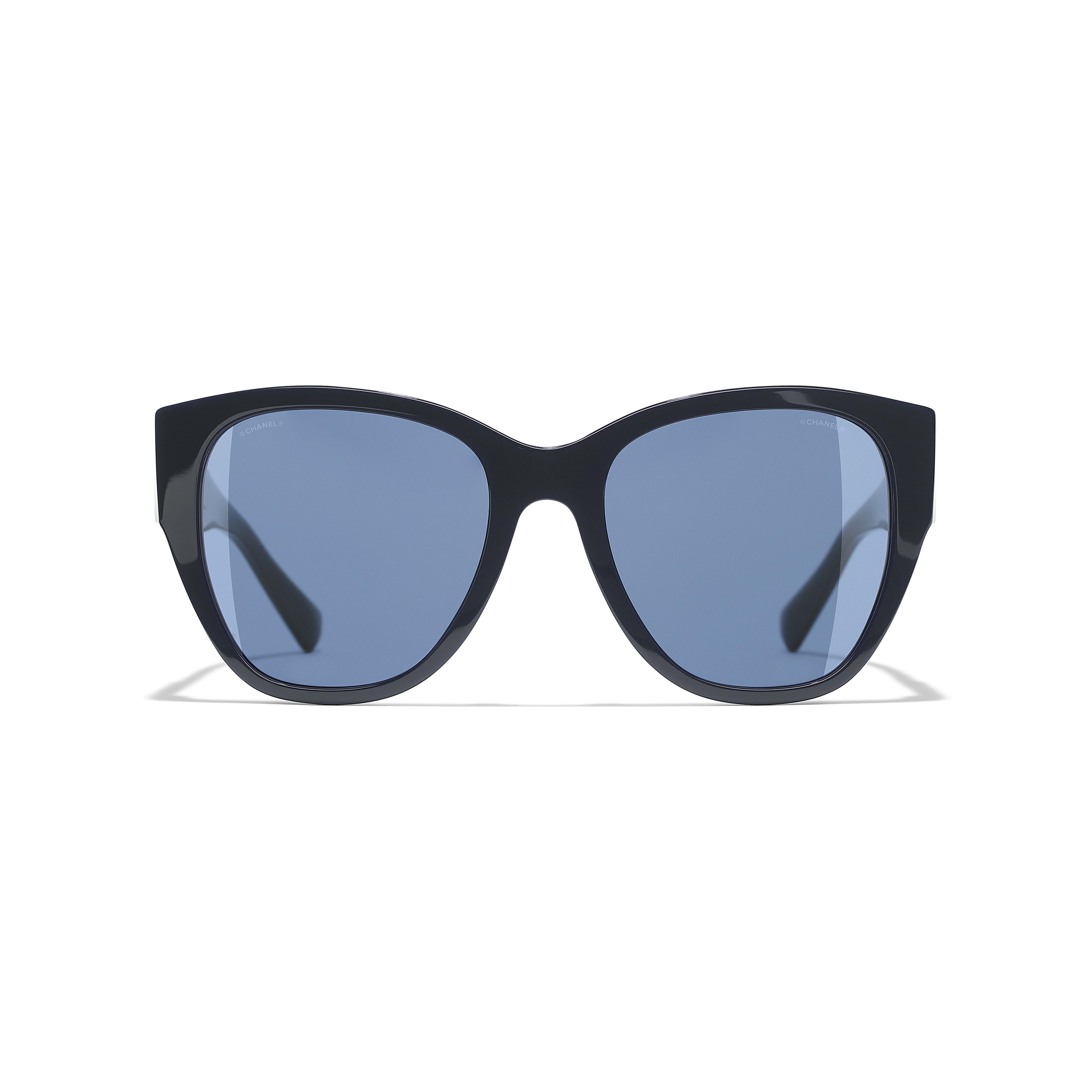 Butterfly Sunglasses - Dark Blue - Acetate - Alternative view - see full sized version