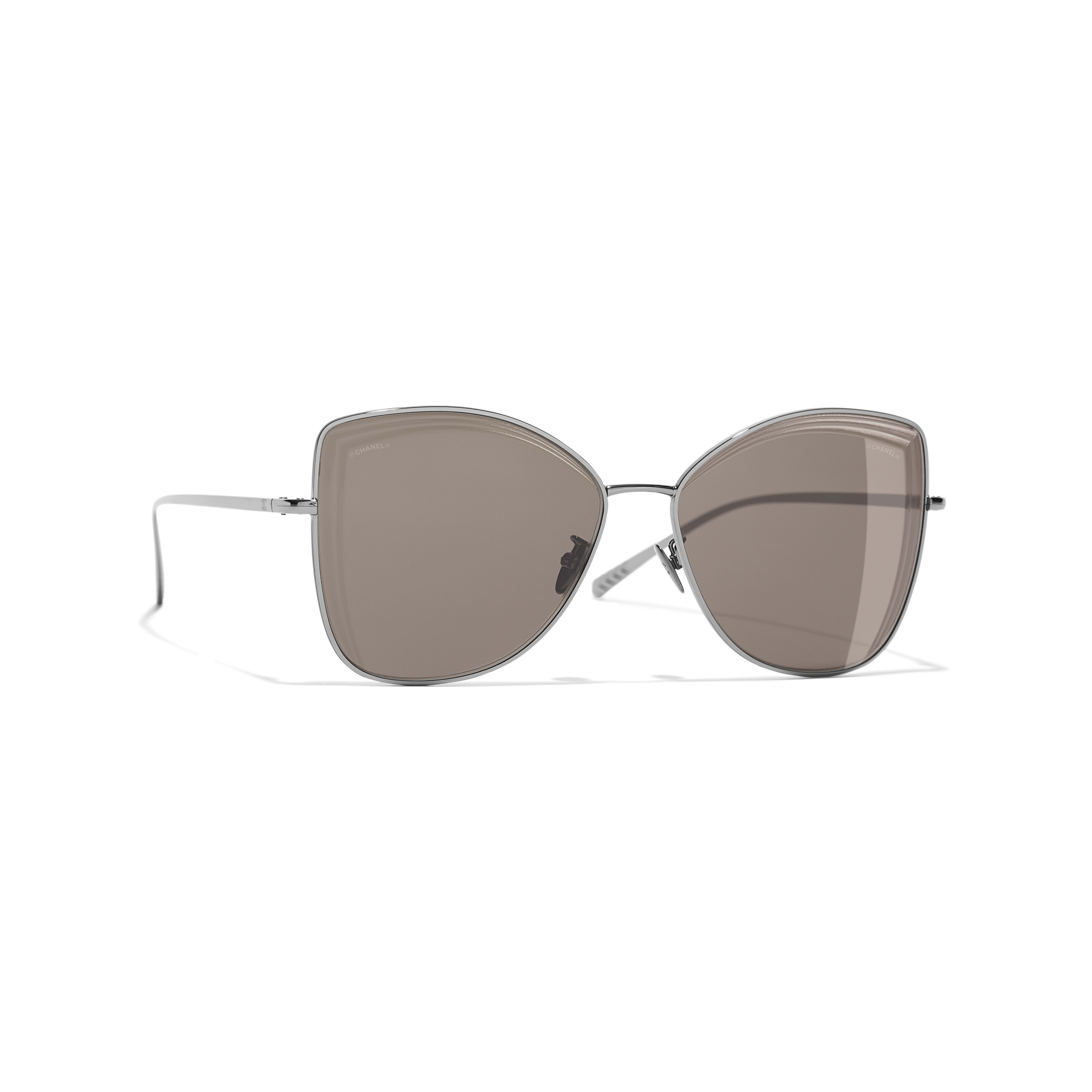 Butterfly Sunglasses - Dark Silver - Metal - Default view - see full sized version