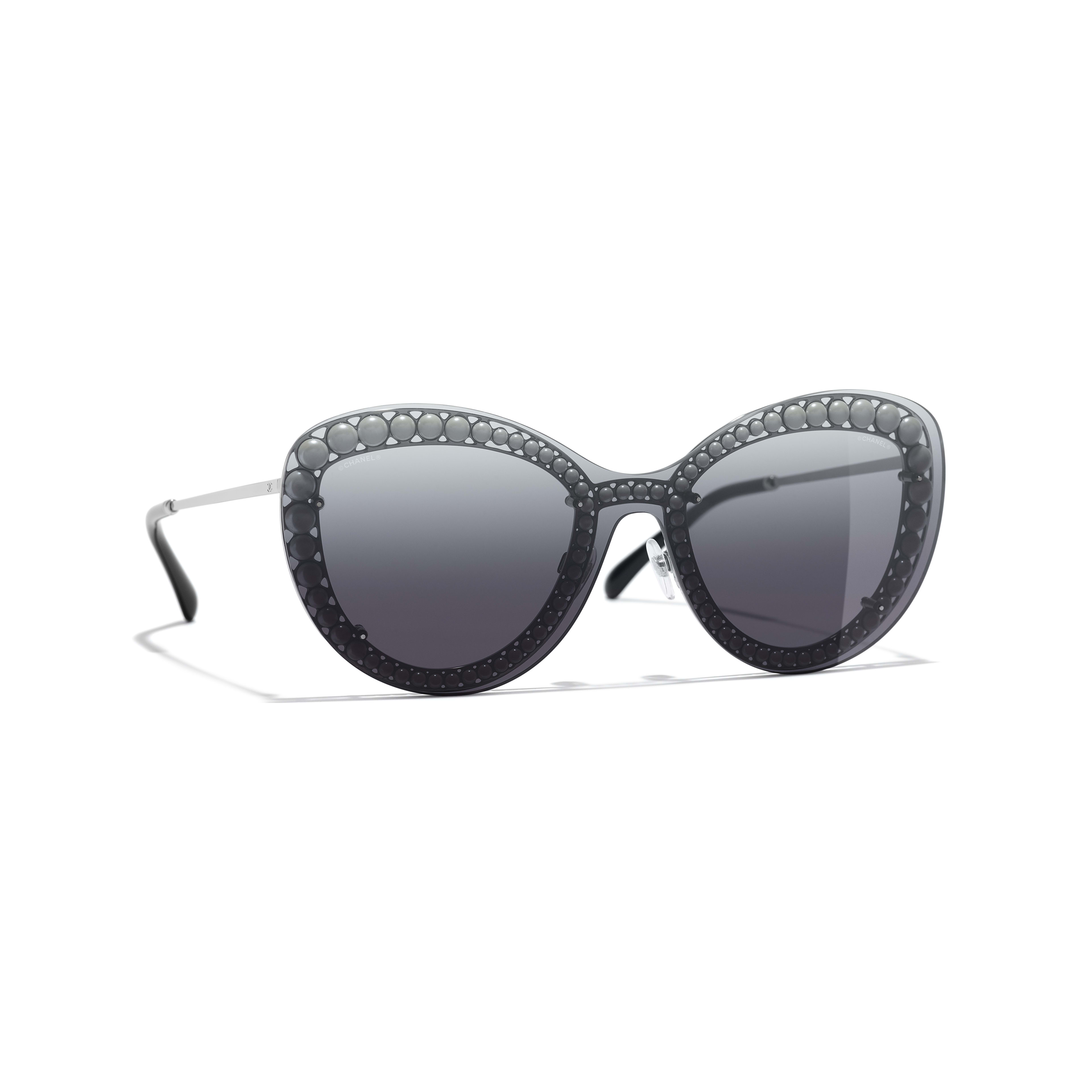 Butterfly Sunglasses - Silver - Metal & Imitation Pearls - Default view - see full sized version