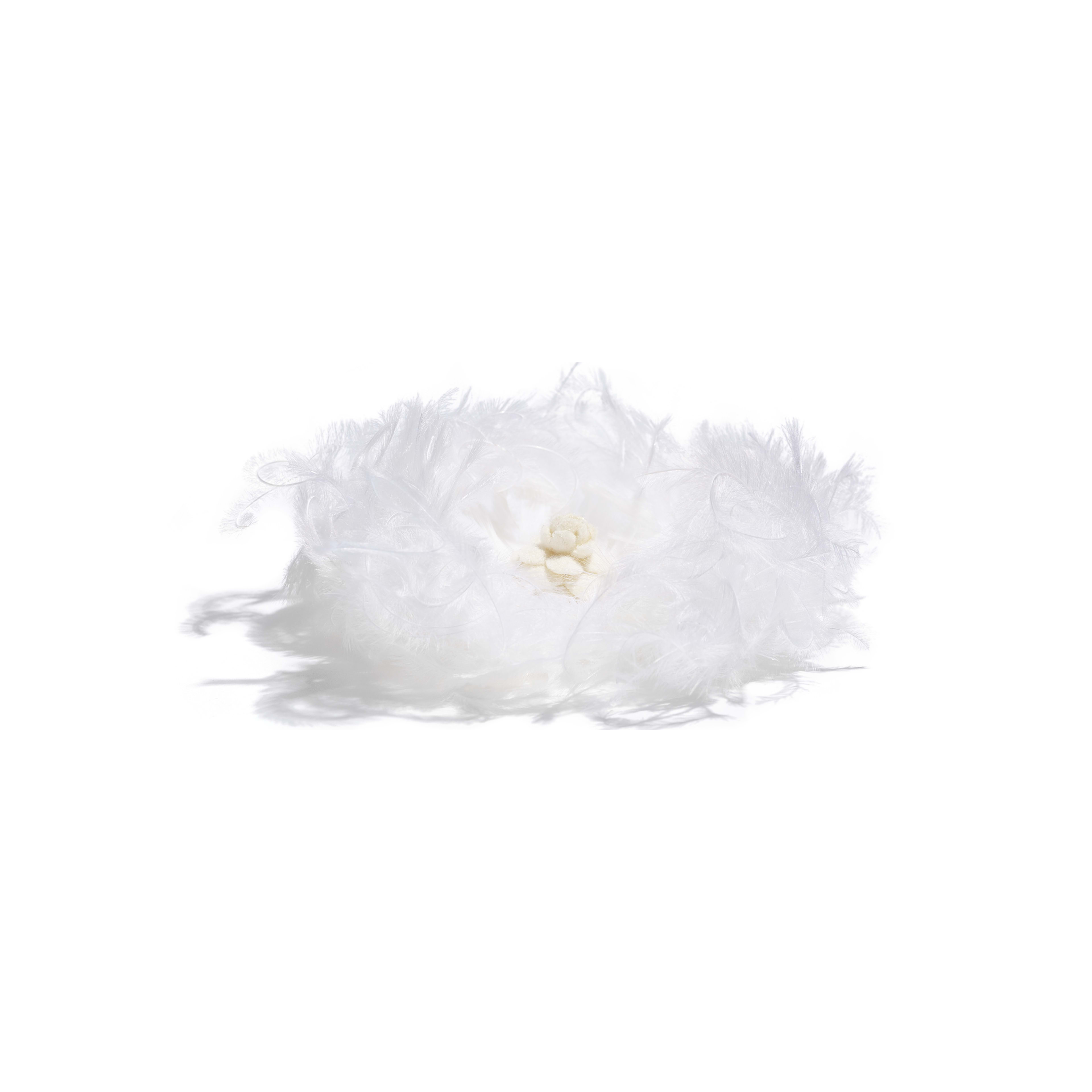 Camellia - White - Feathers & Wool - Alternative view - see full sized version