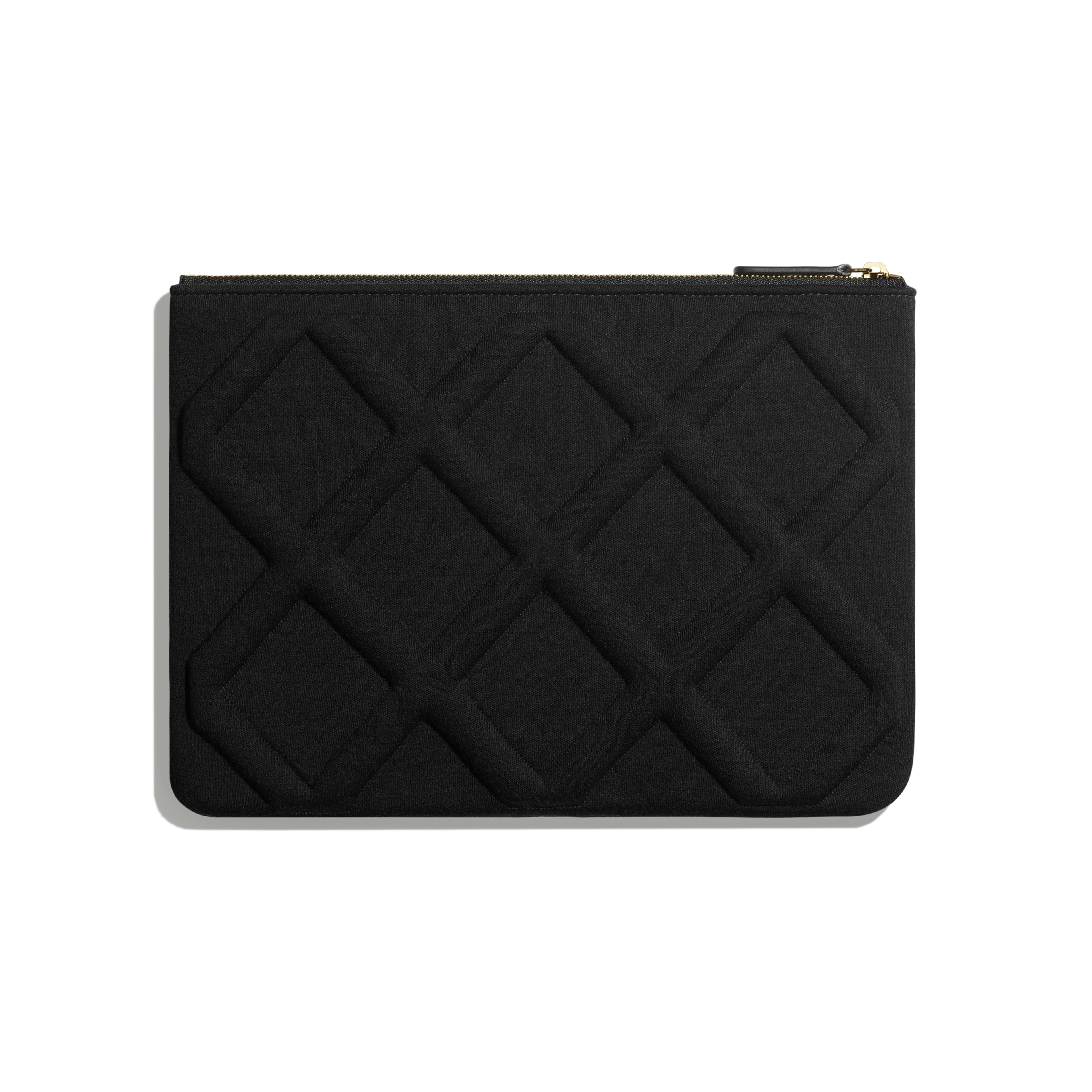 CHANEL 19 Pouch - Black - Jersey, Gold-Tone, Silver-Tone & Ruthenium-Finish Metal - Alternative view - see full sized version