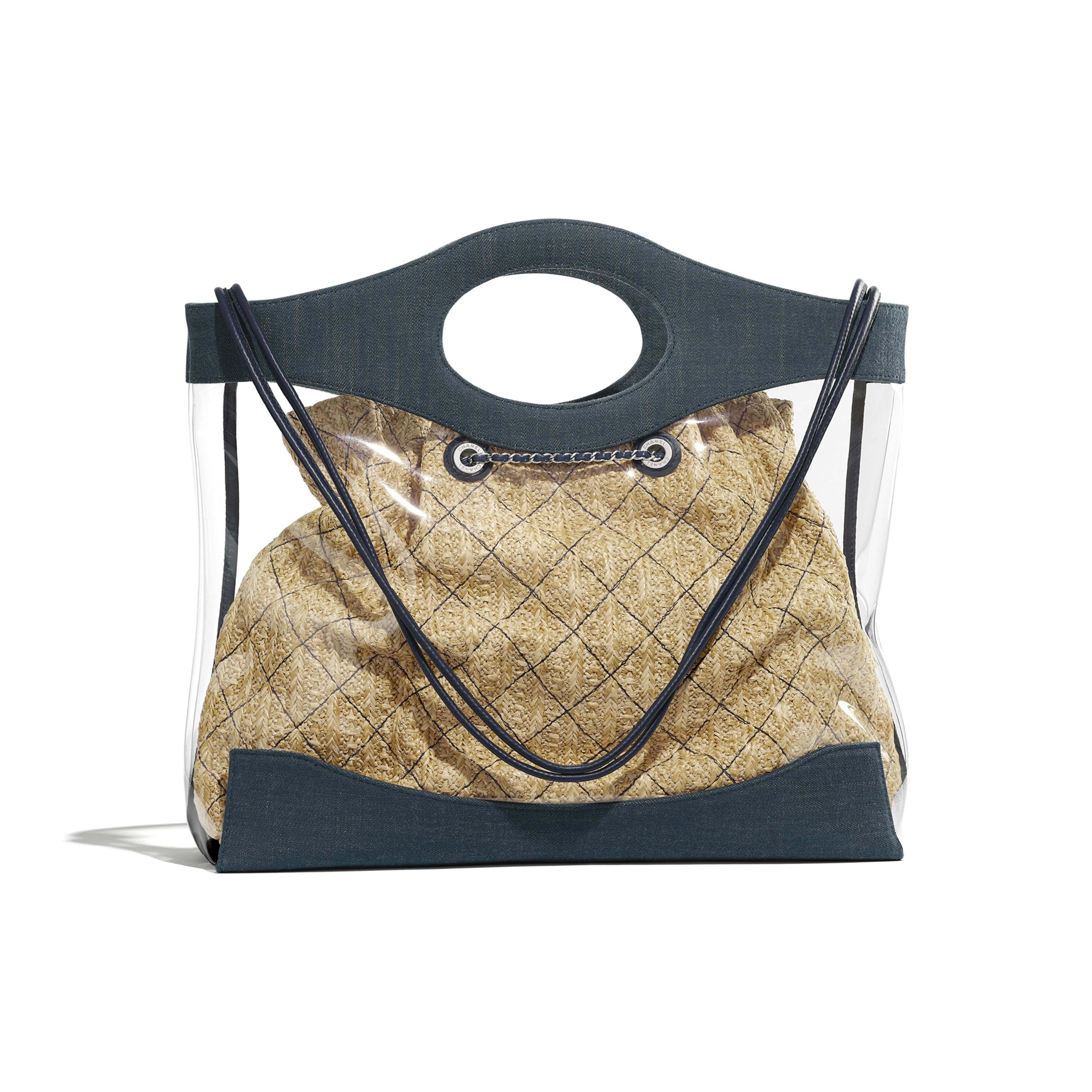 CHANEL 31 Shopping Bag - Blue - PVC, Denim, Calfskin & Silver-Tone Metal - Alternative view - see full sized version