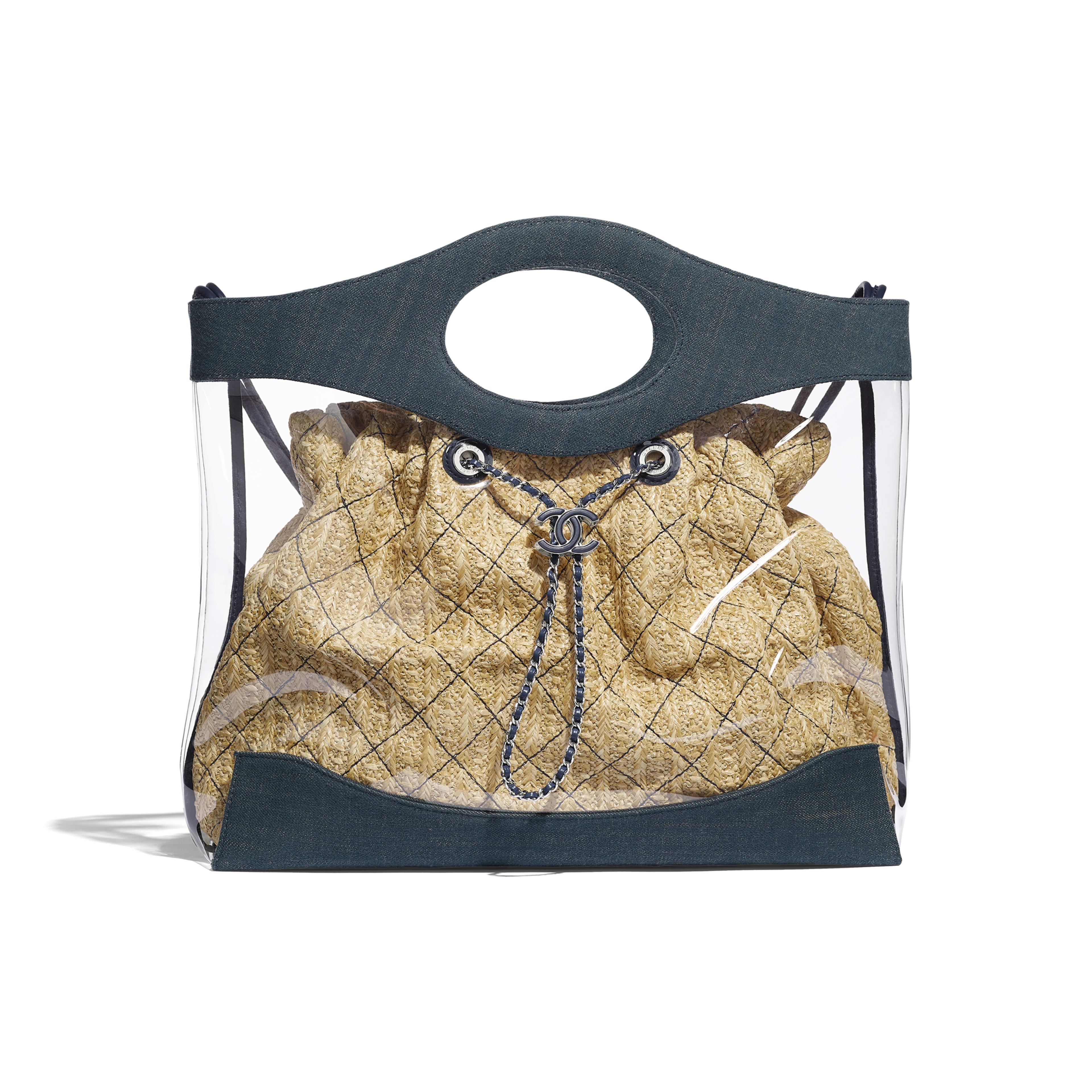 CHANEL 31 Shopping Bag - Blue - PVC, Denim, Calfskin & Silver-Tone Metal - Default view - see full sized version