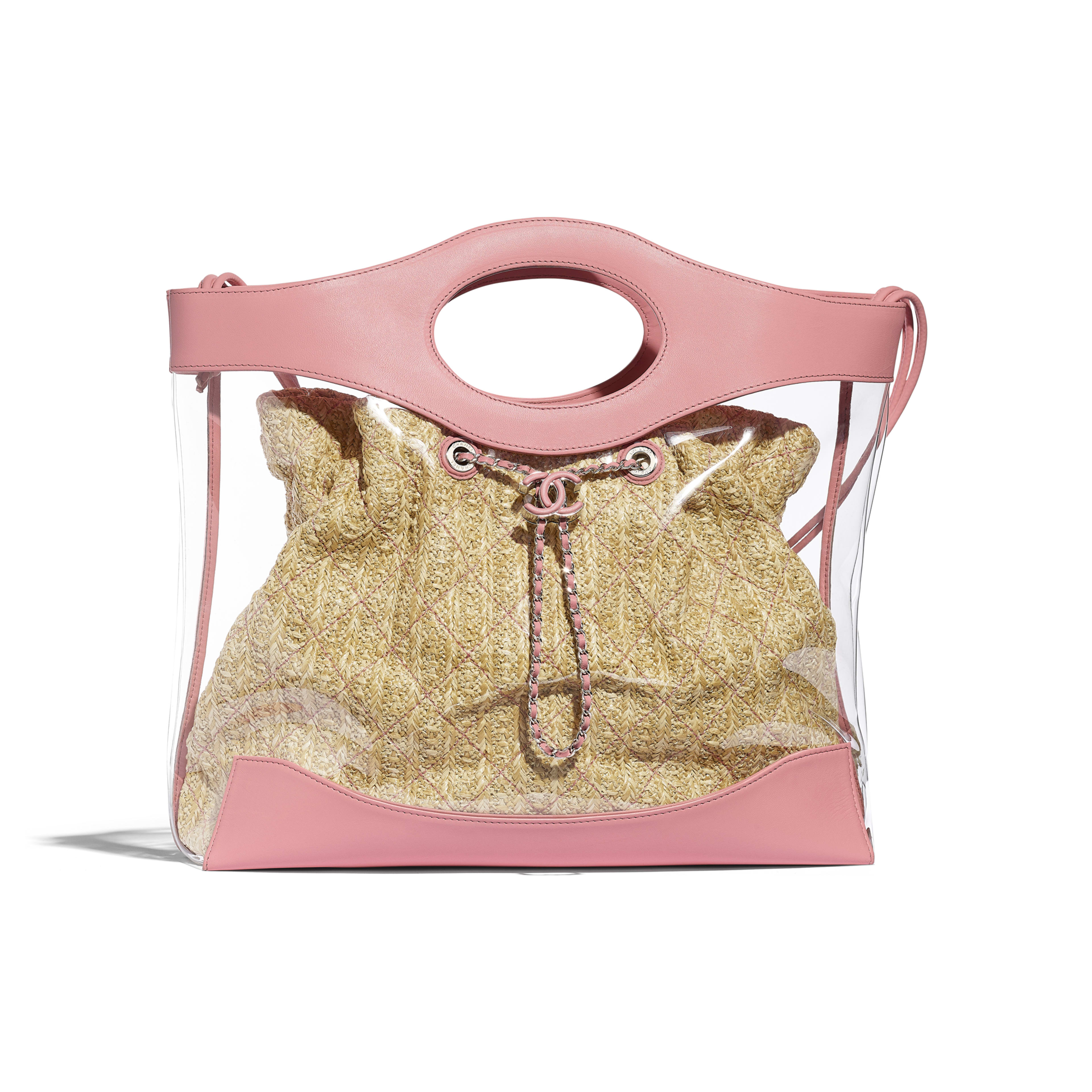 CHANEL 31 Shopping Bag - Pink - PVC, Calfskin & Silver-Tone Metal - Default view - see full sized version