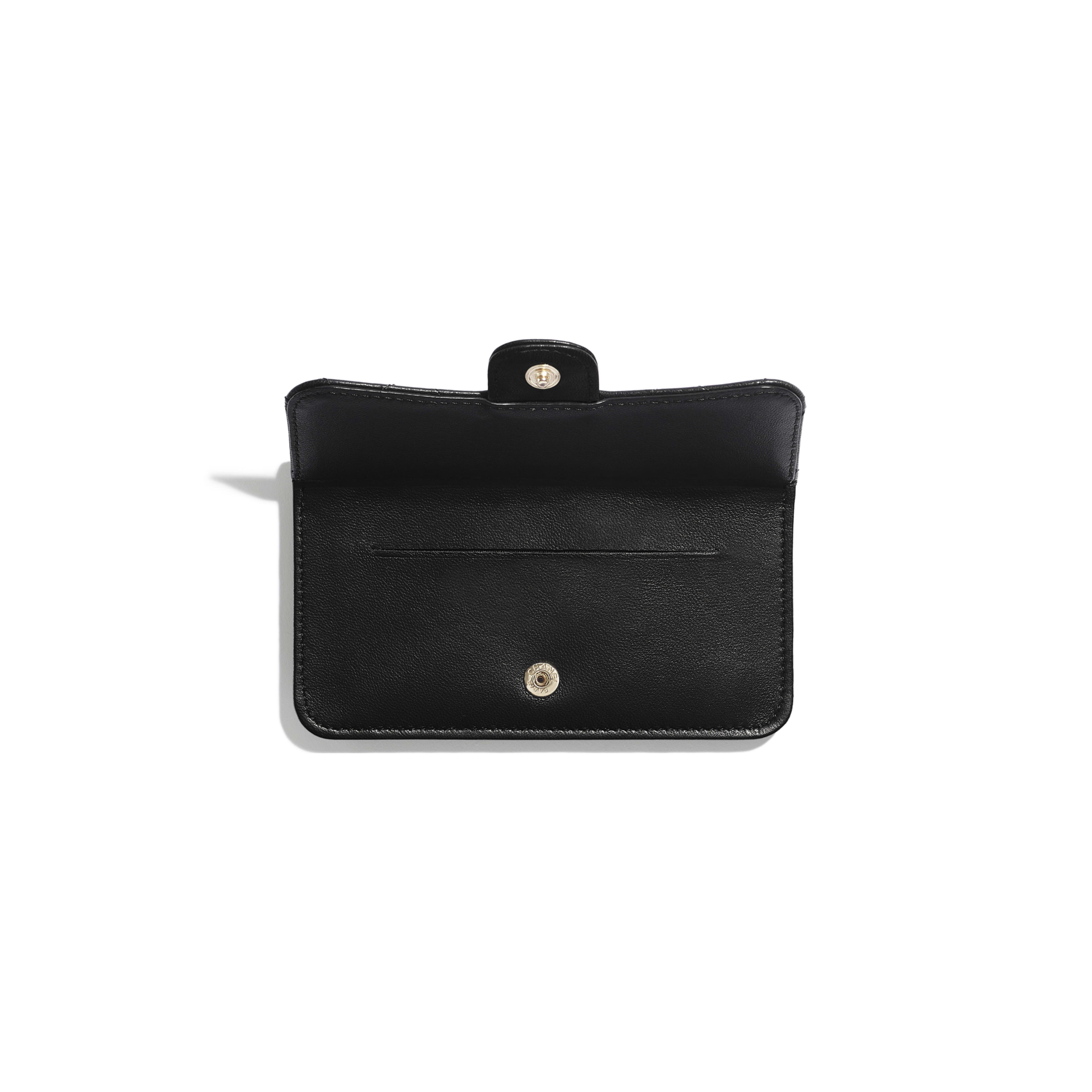 Classic Card Holder - Black - Lambskin & Gold-Tone Metal - Other view - see full sized version