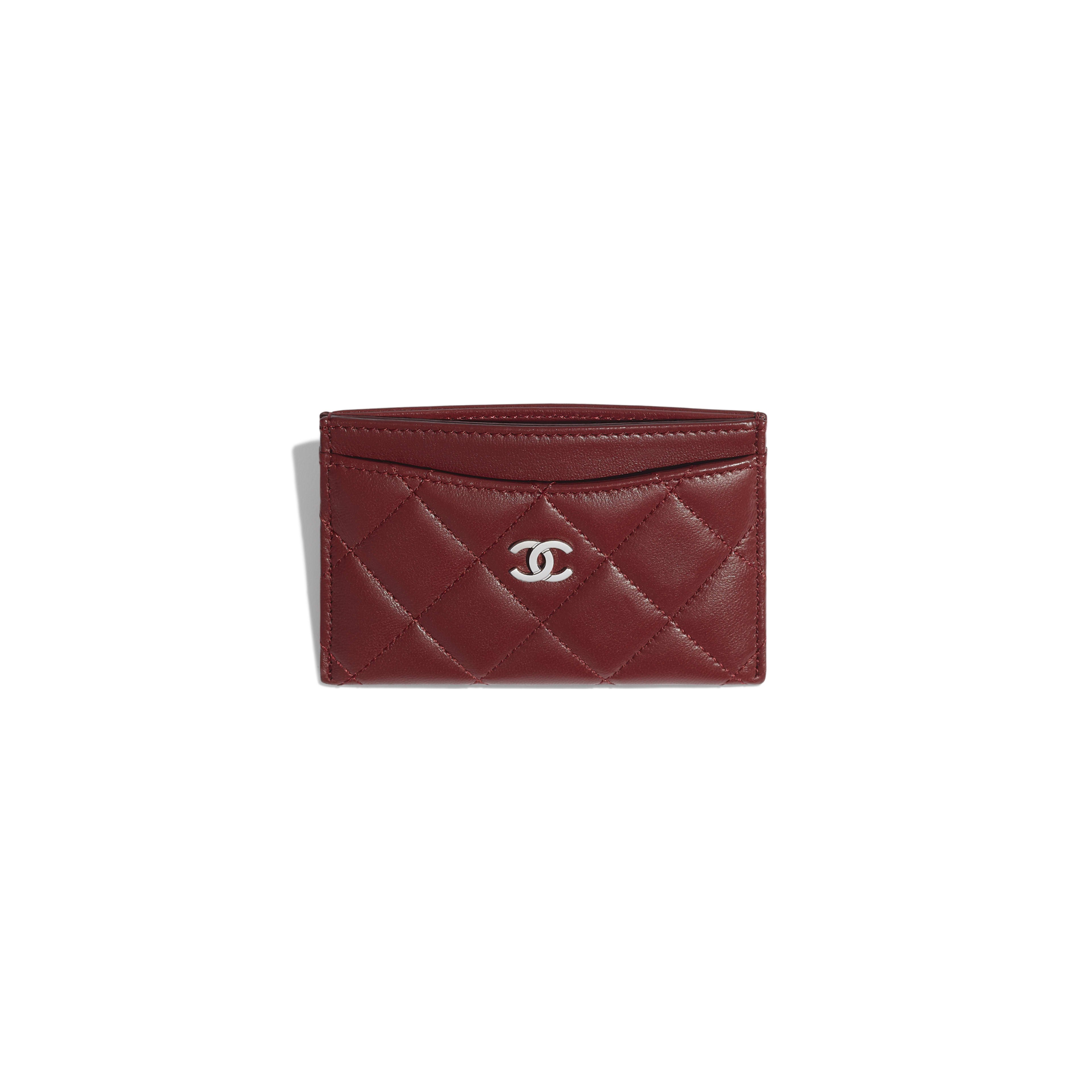 Classic Card Holder - Burgundy - Lambskin - Other view - see full sized version