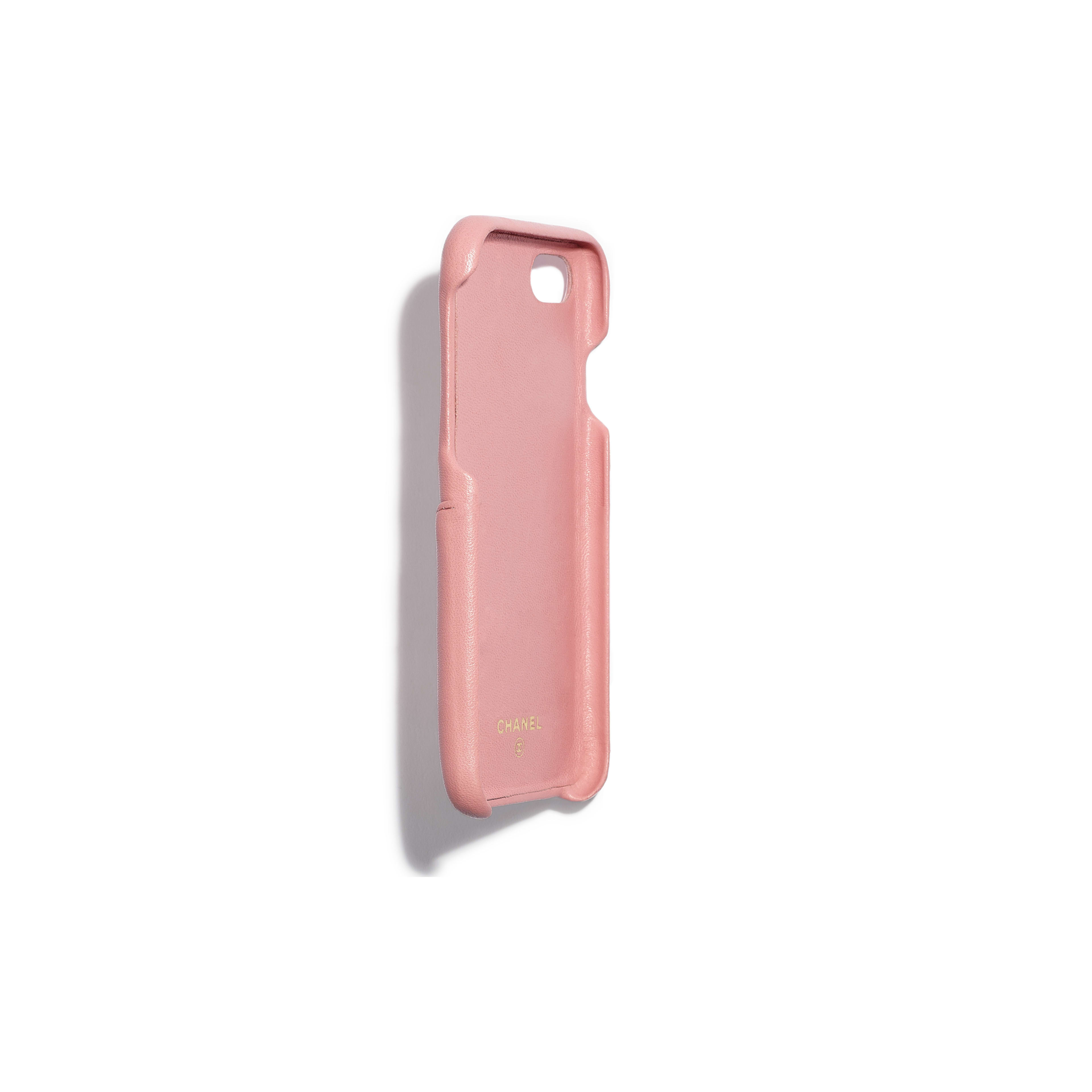 Classic Case for iPhone 7 & 8 - Pink - Lambskin & Gold-Tone Metal - Other view - see full sized version