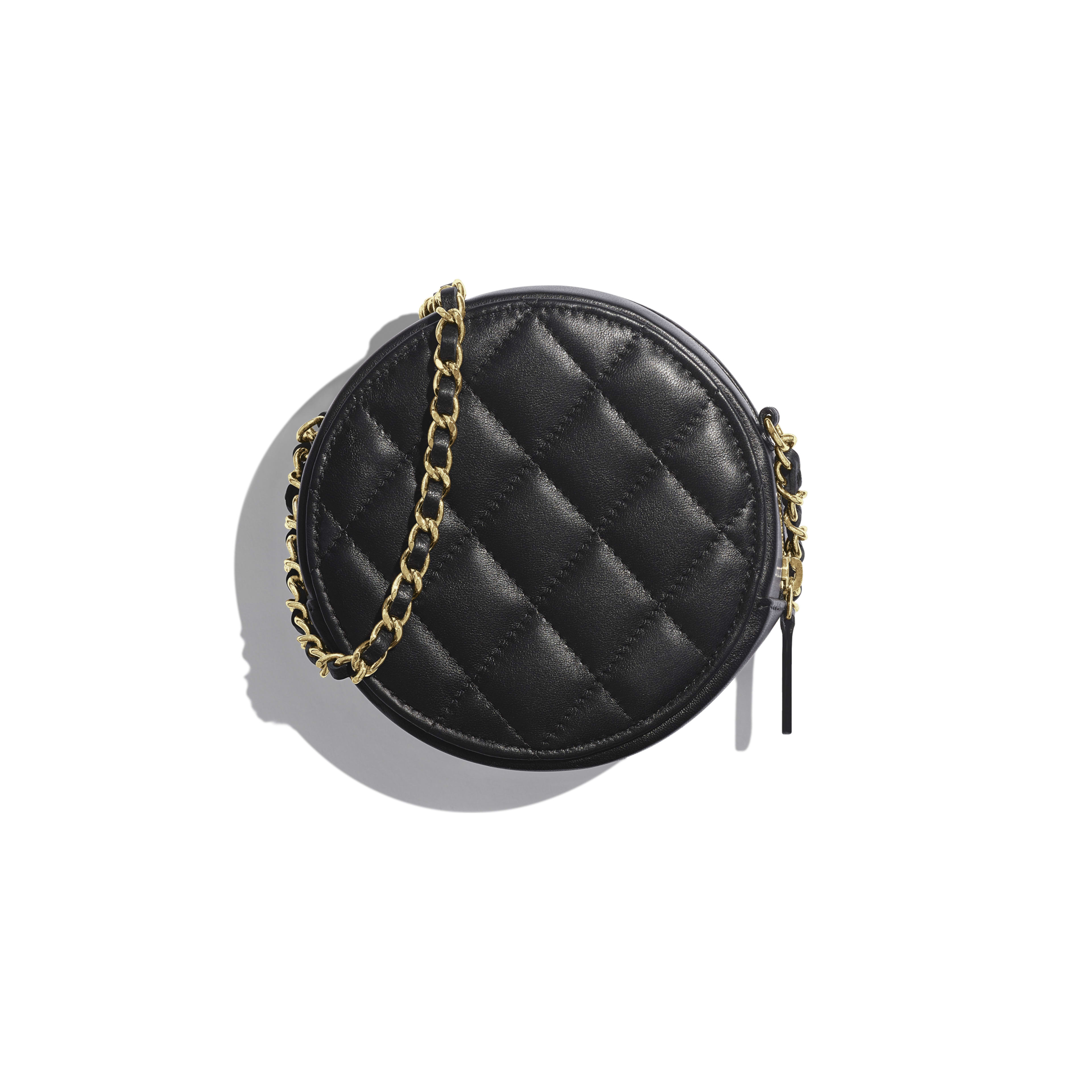 Classic Clutch with Chain - Black - Lambskin & Gold-Tone Metal - Alternative view - see full sized version
