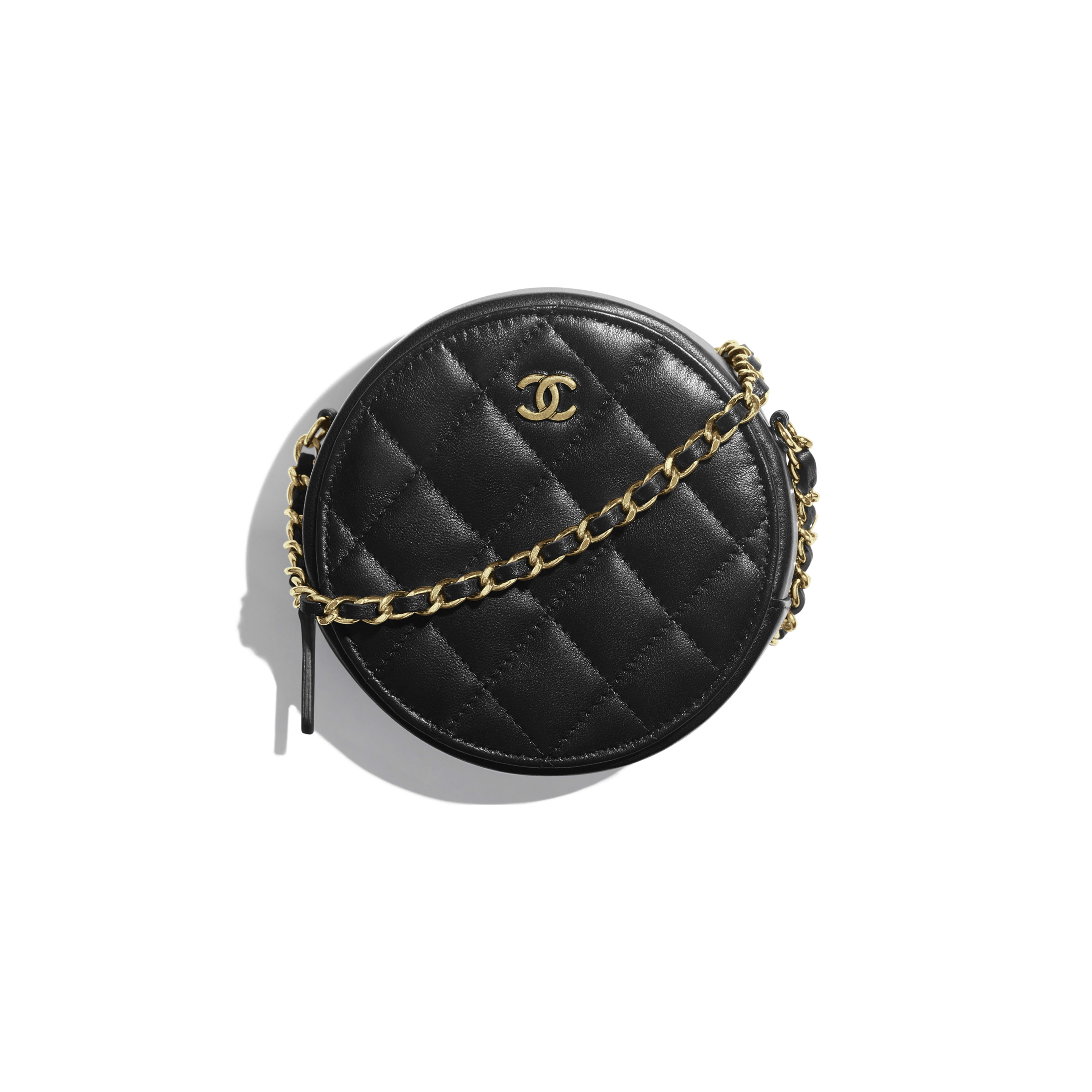 Classic Clutch with Chain - Black - Lambskin & Gold-Tone Metal - Default view - see full sized version