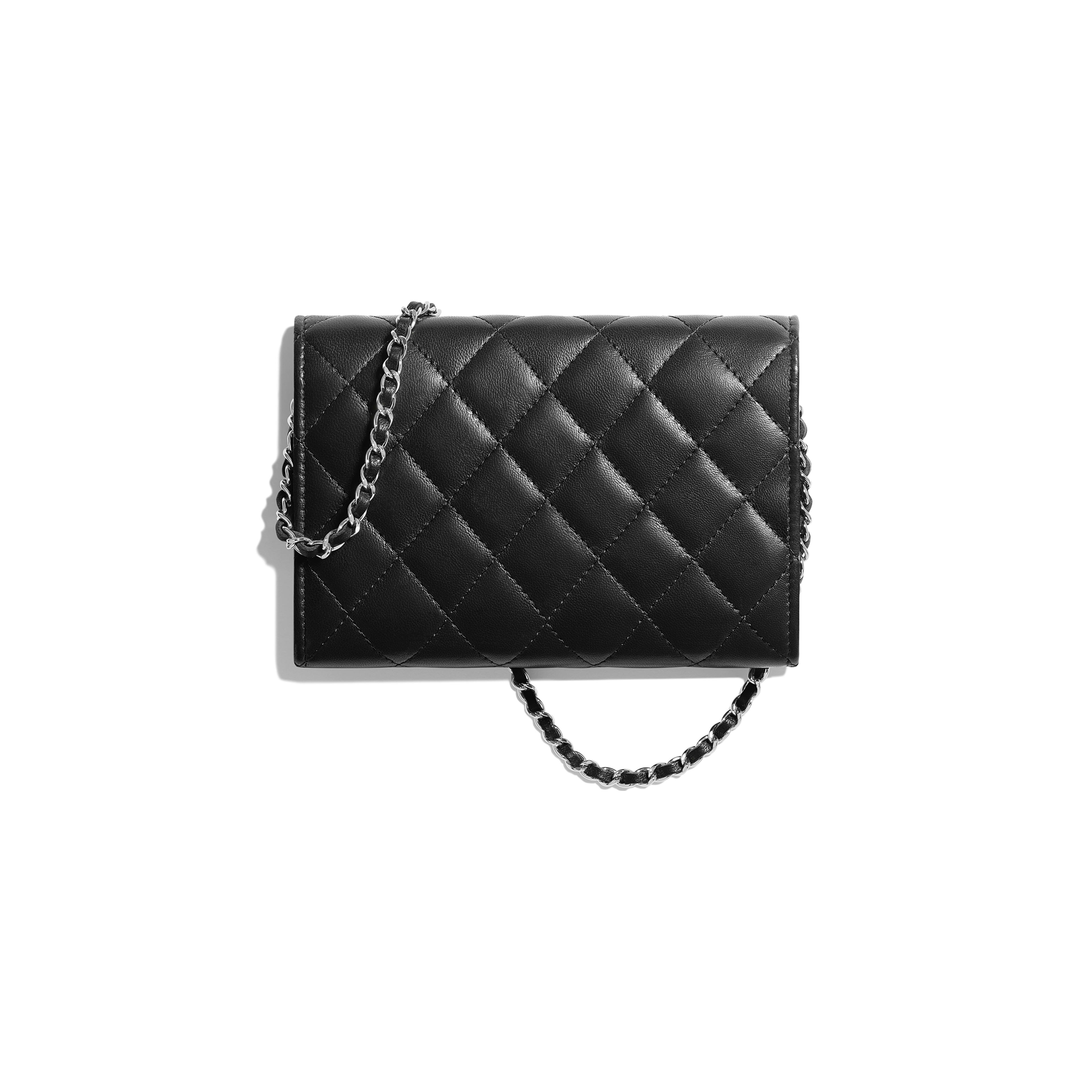 Classic Clutch With Chain - Black - Lambskin - Alternative view - see full sized version