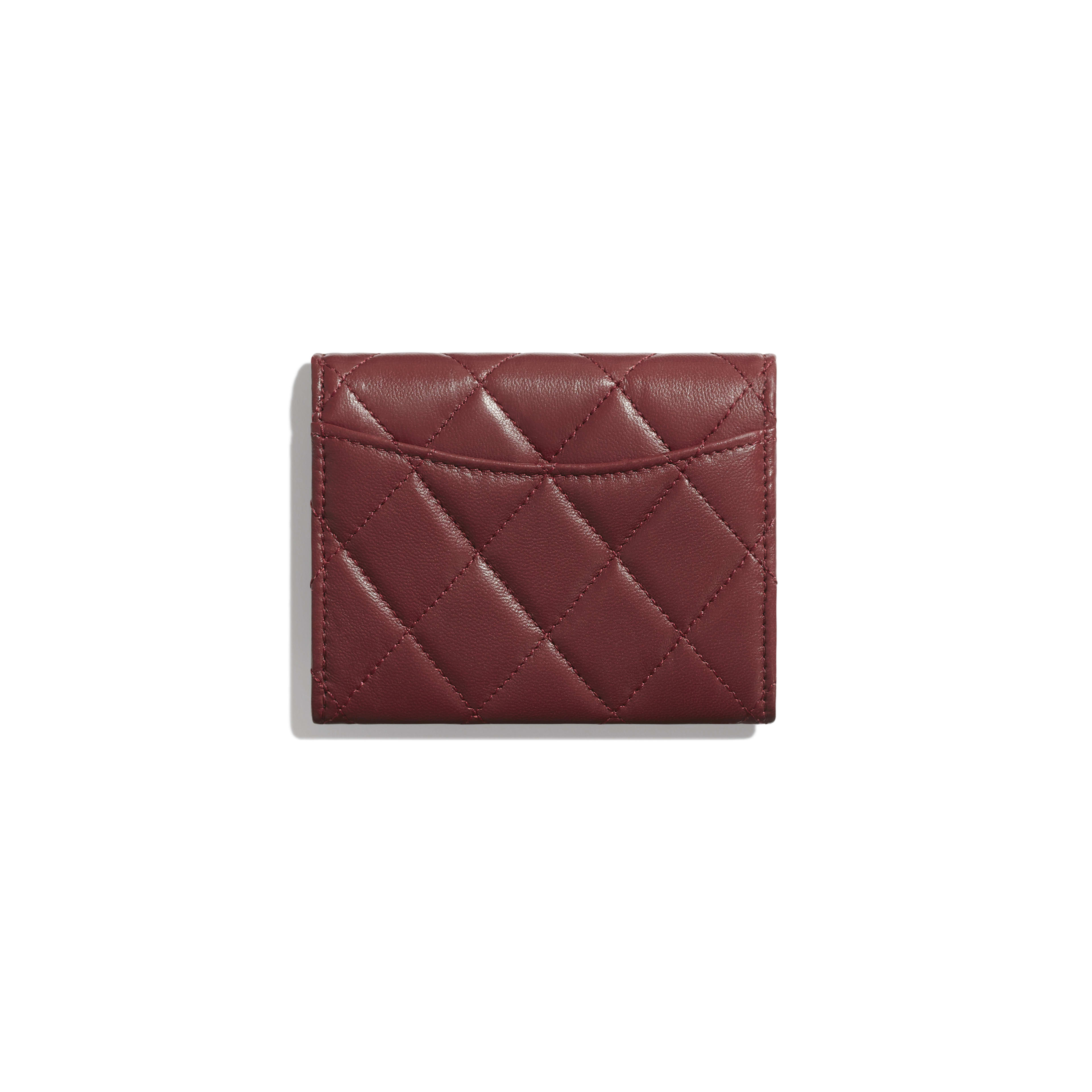 Classic Flap Coin Purse - Burgundy - Lambskin - Alternative view - see full sized version