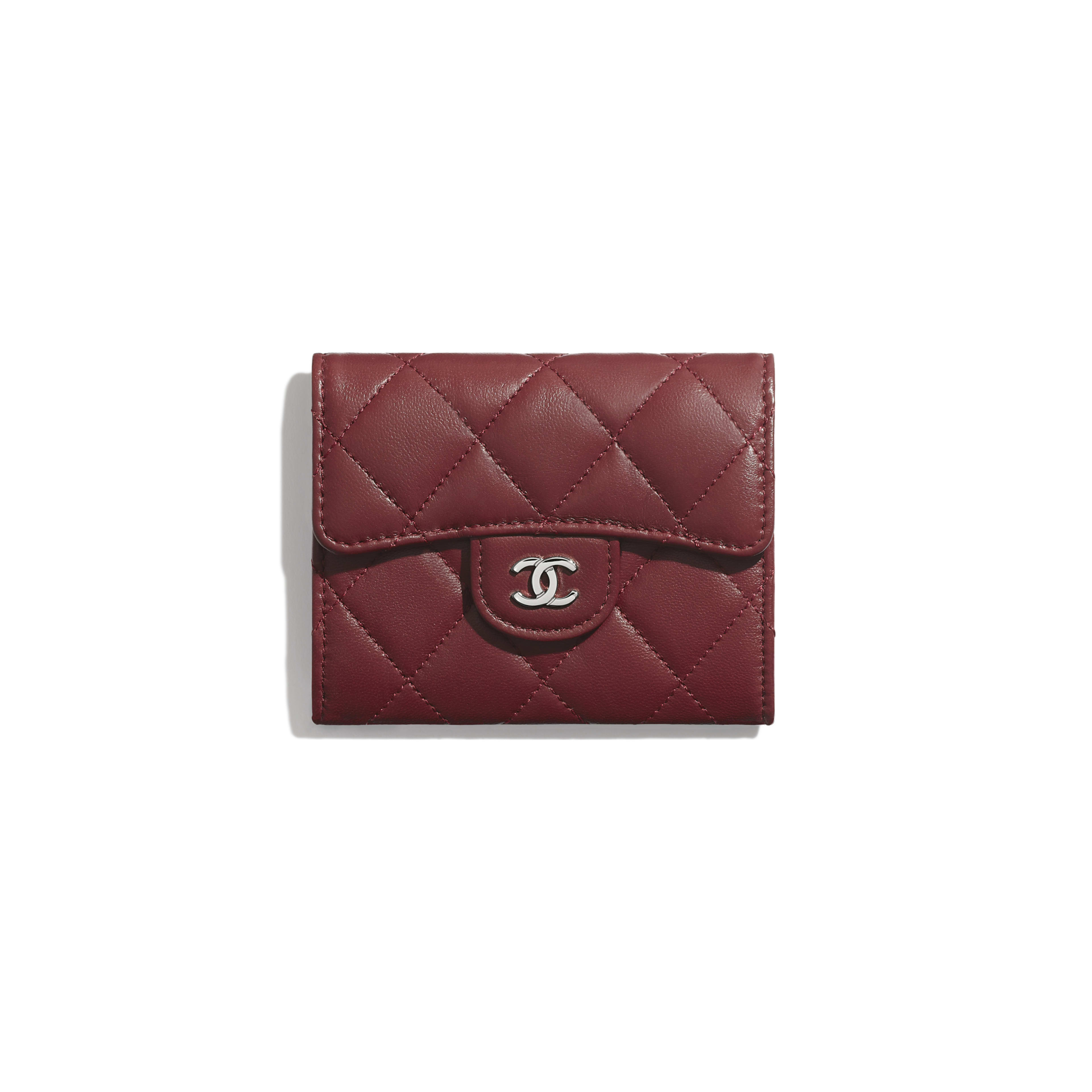Classic Flap Coin Purse - Burgundy - Lambskin - Default view - see full sized version