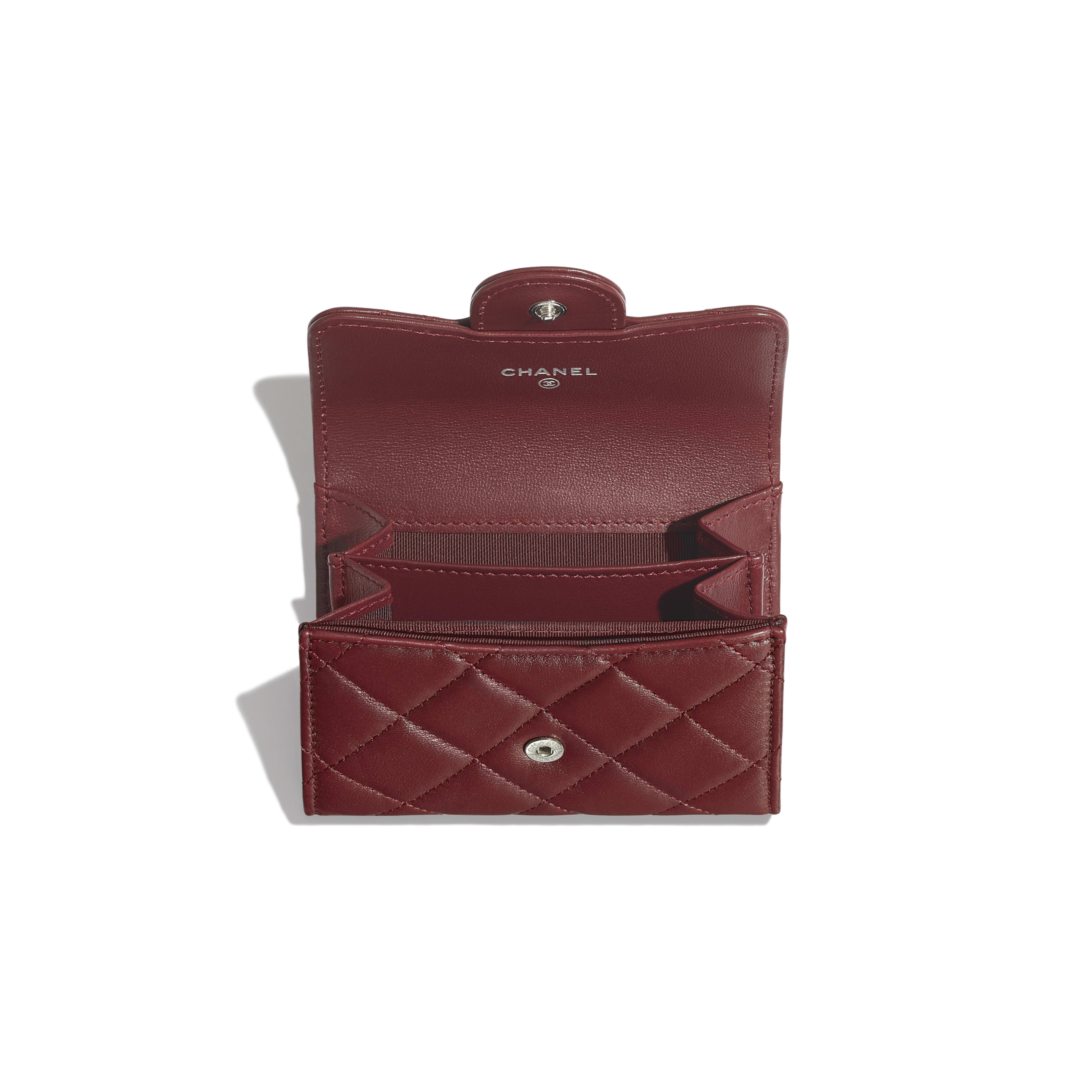 Classic Flap Coin Purse - Burgundy - Lambskin - Other view - see full sized version