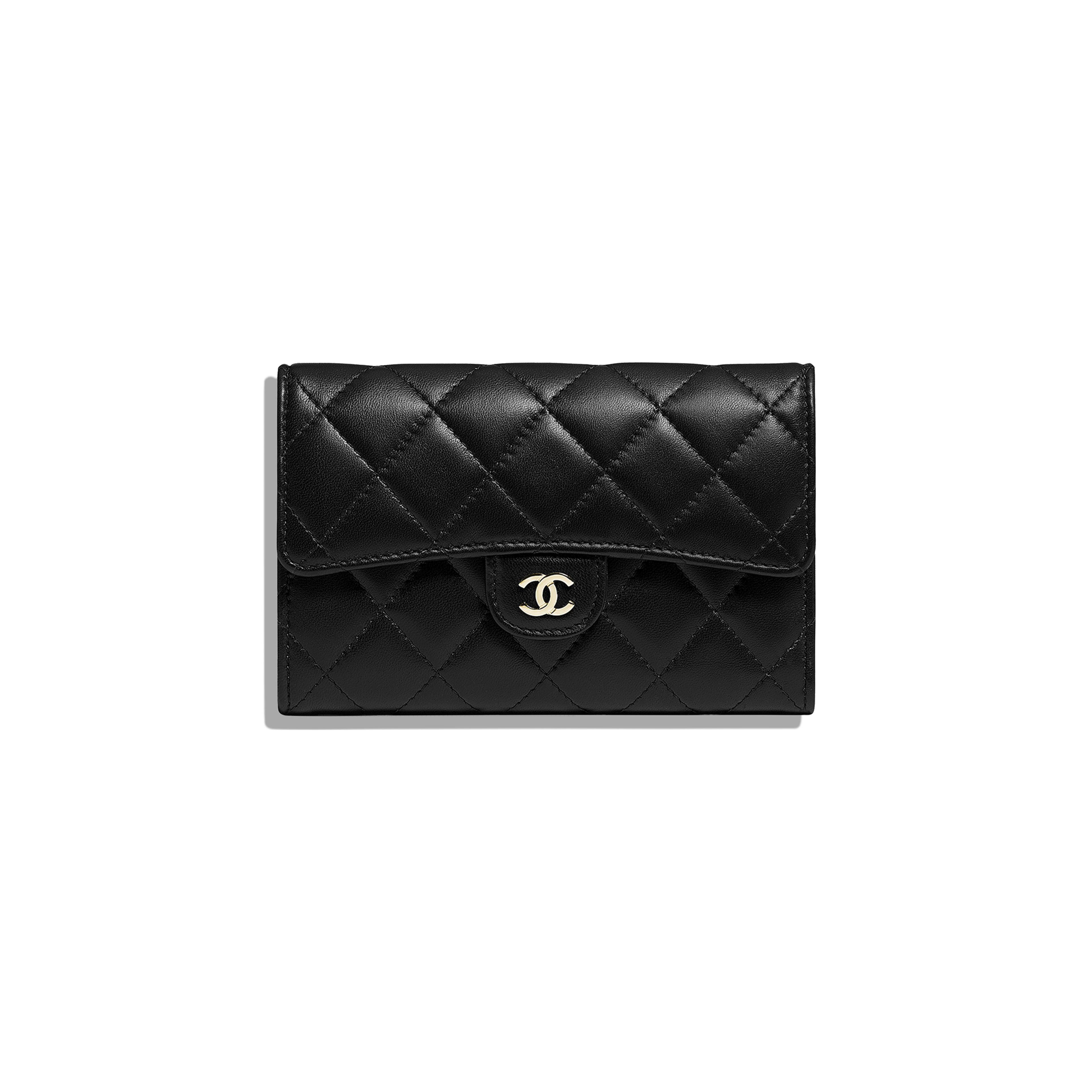 Classic Flap Wallet - Black - Lambskin - Default view - see full sized version