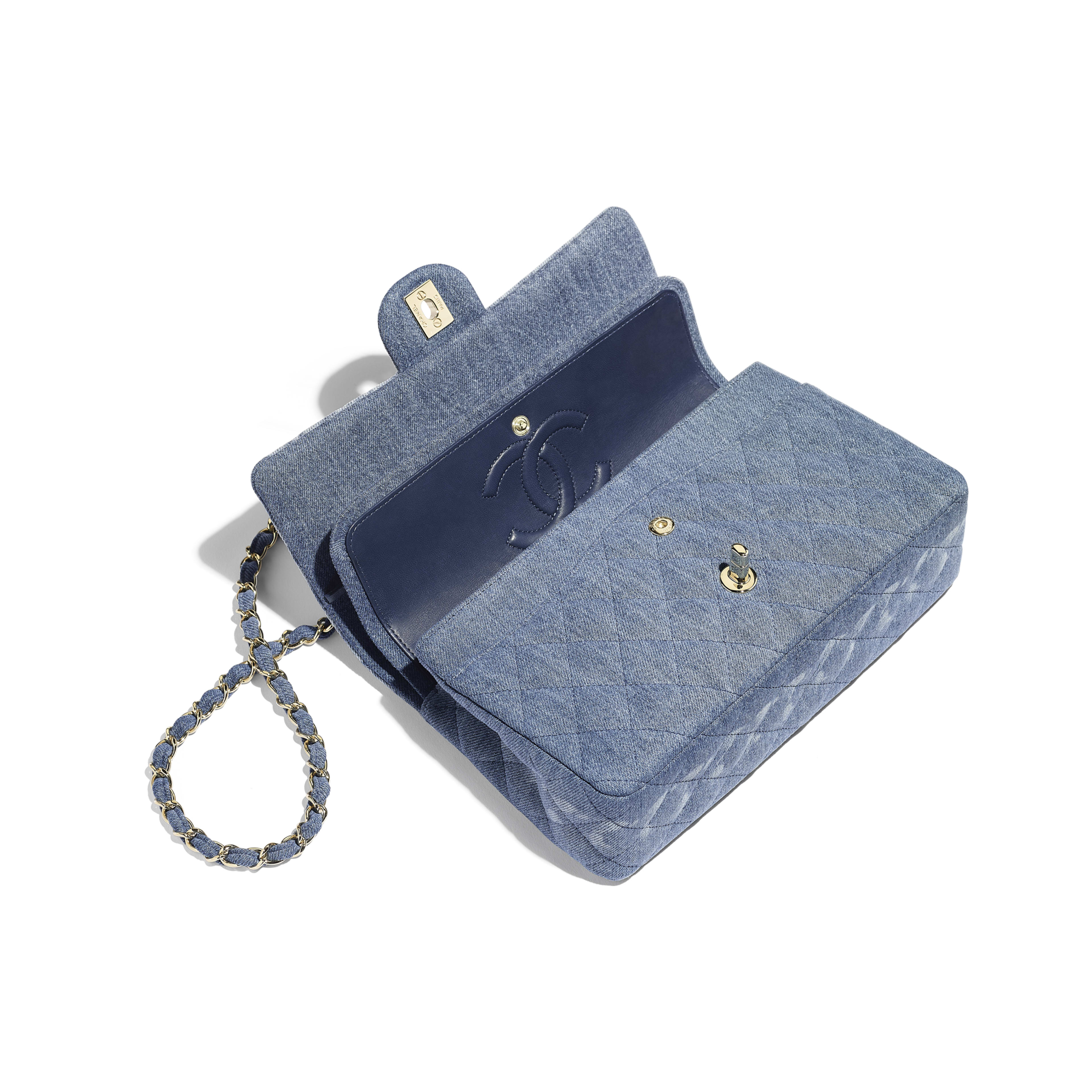 Classic Handbag - Blue - Denim & Gold-Tone Metal - Other view - see full sized version