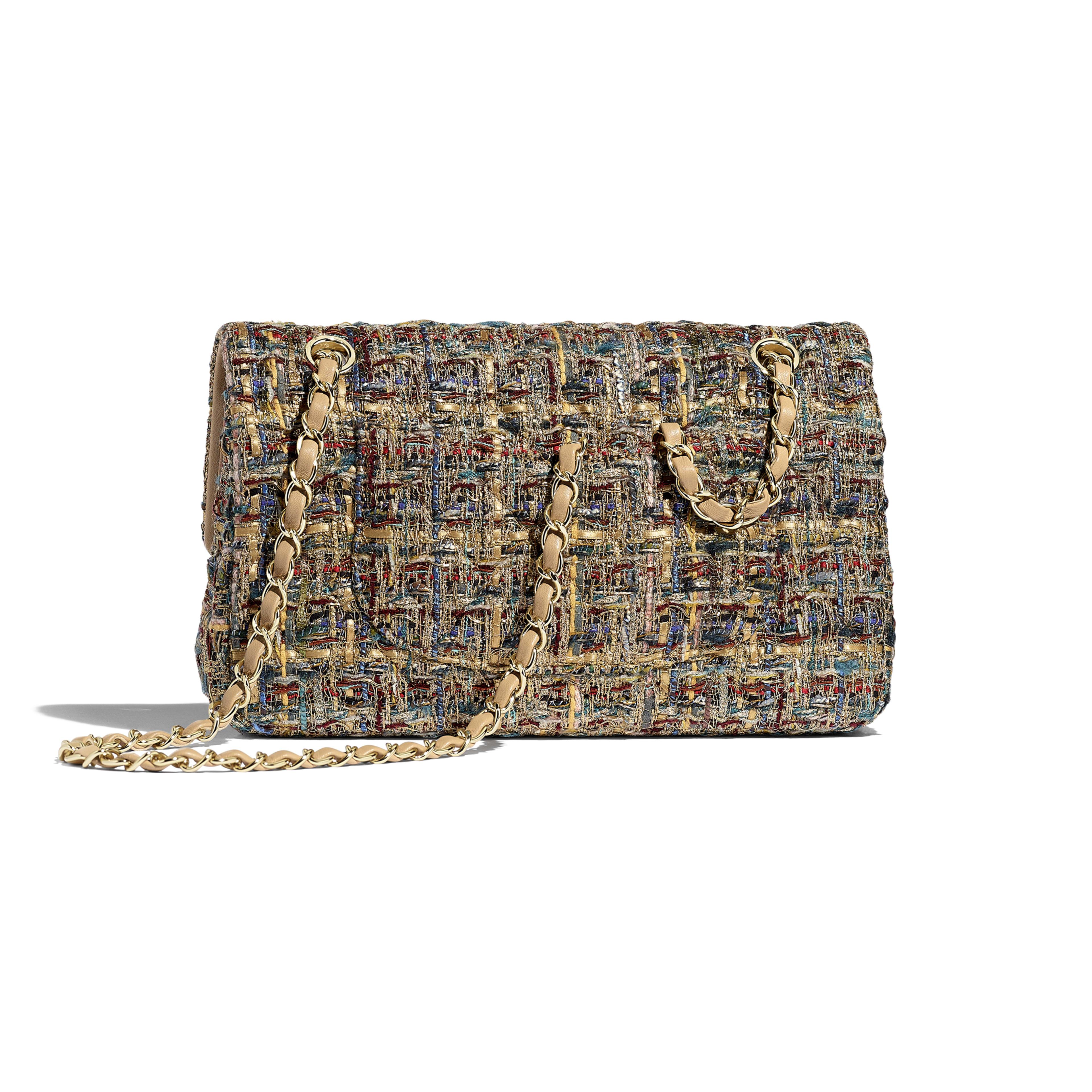 Classic Handbag - Gold, Blue & Green - Tweed & Gold-Tone Metal - Alternative view - see full sized version