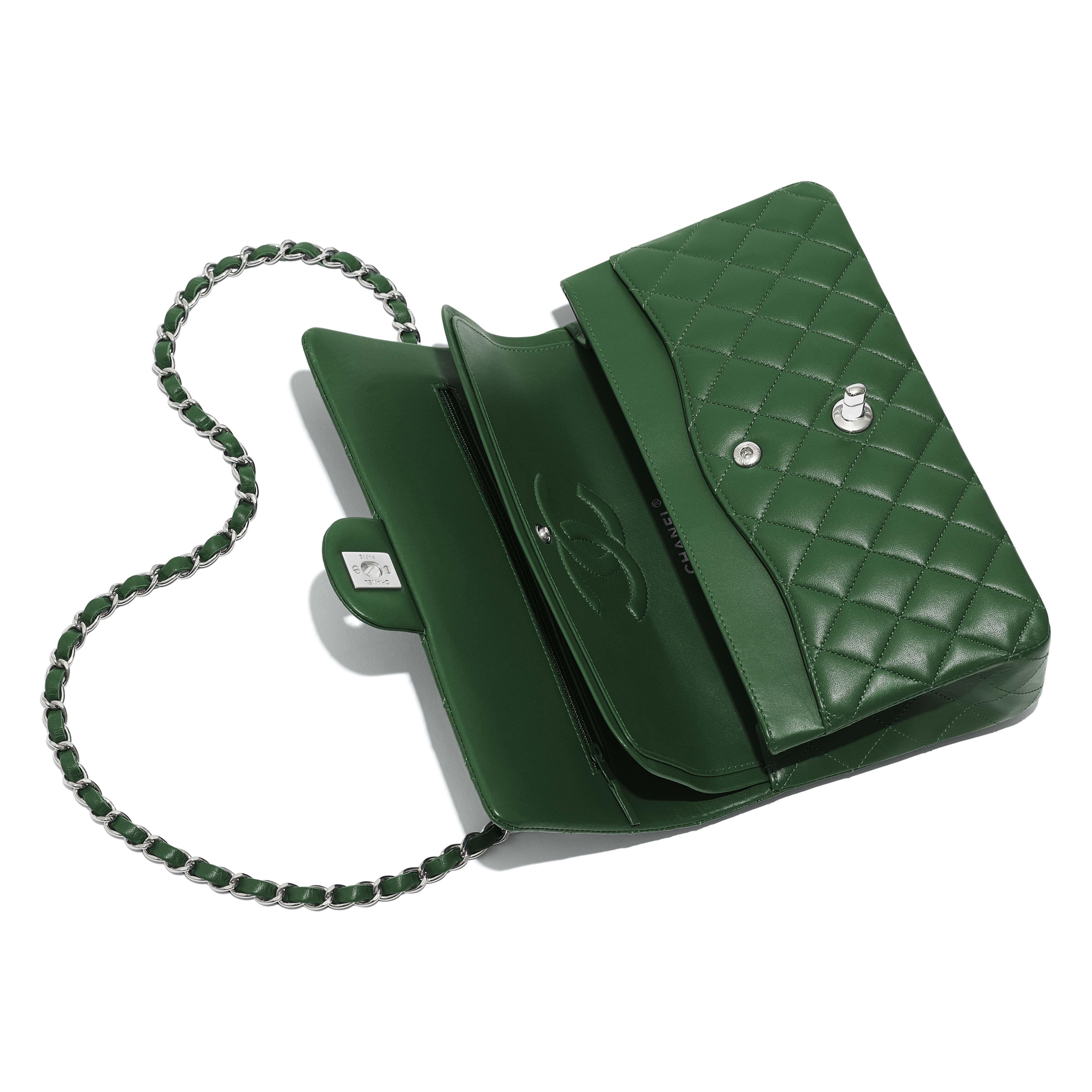 Classic Handbag - Green - Lambskin - Other view - see full sized version