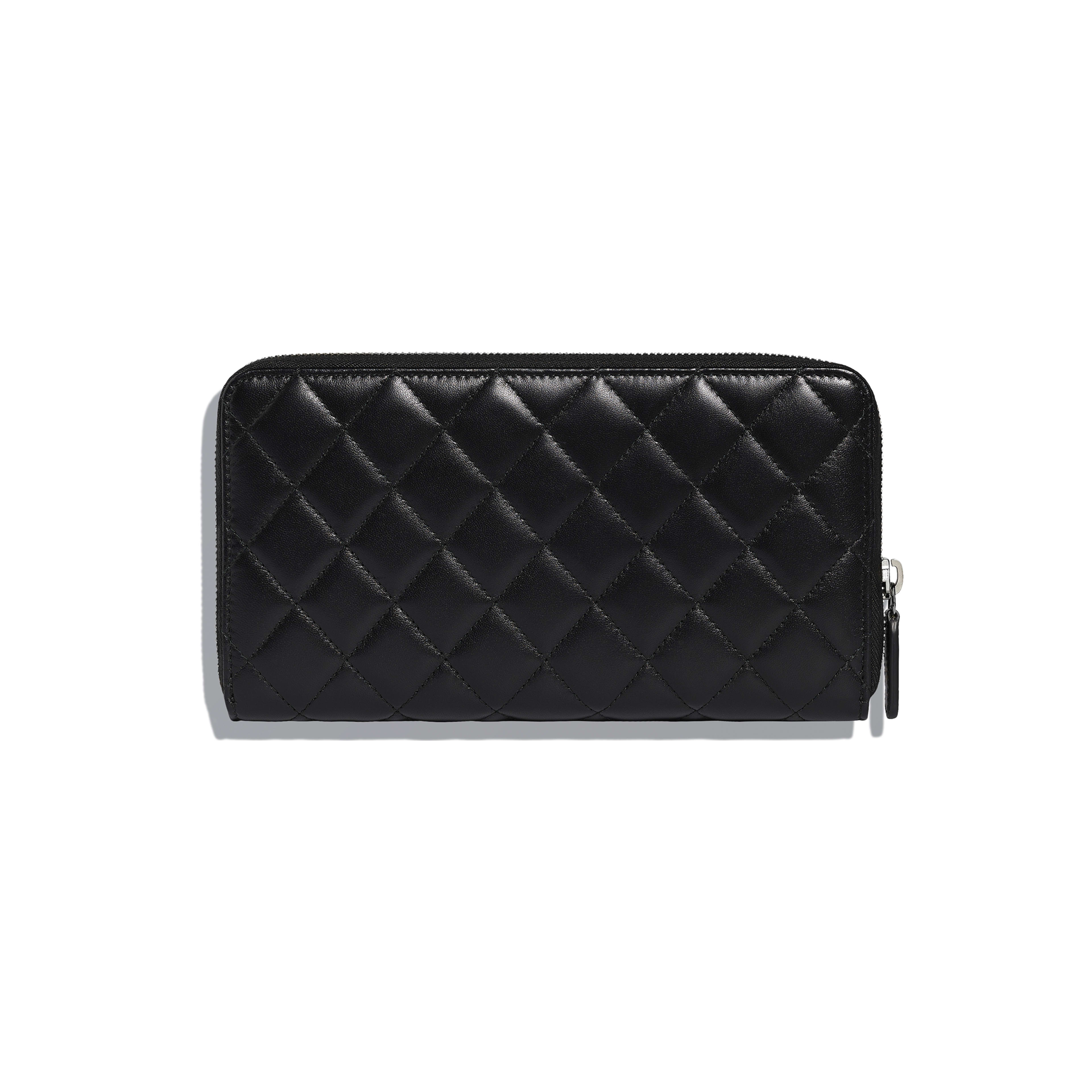 Classic Large Zipped Wallet - Black - Lambskin - Alternative view - see full sized version
