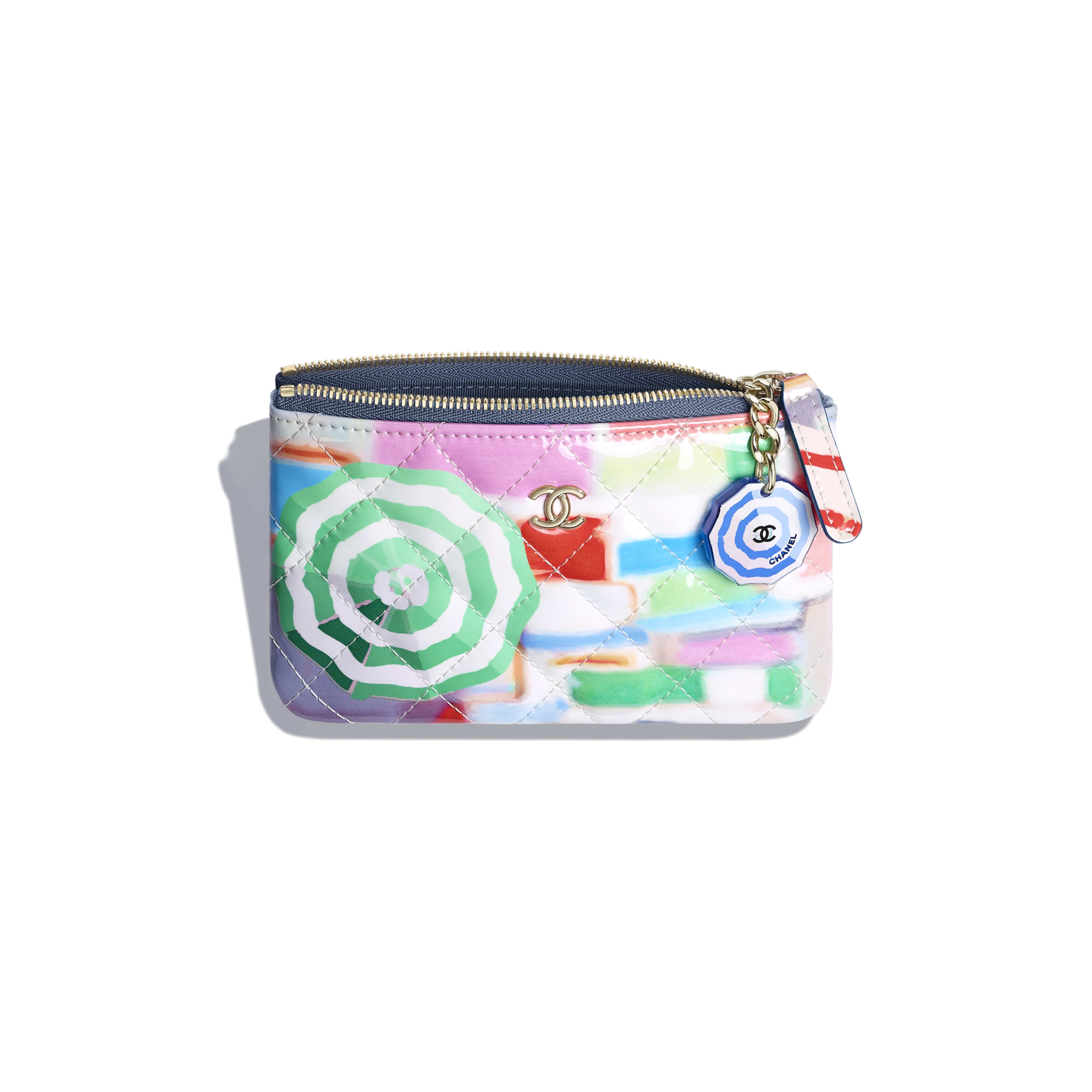 d587b5c7c886 Classic Small Pouch - Multicolor - Printed Patent Calfskin   Gold-Tone Metal  - Other ...