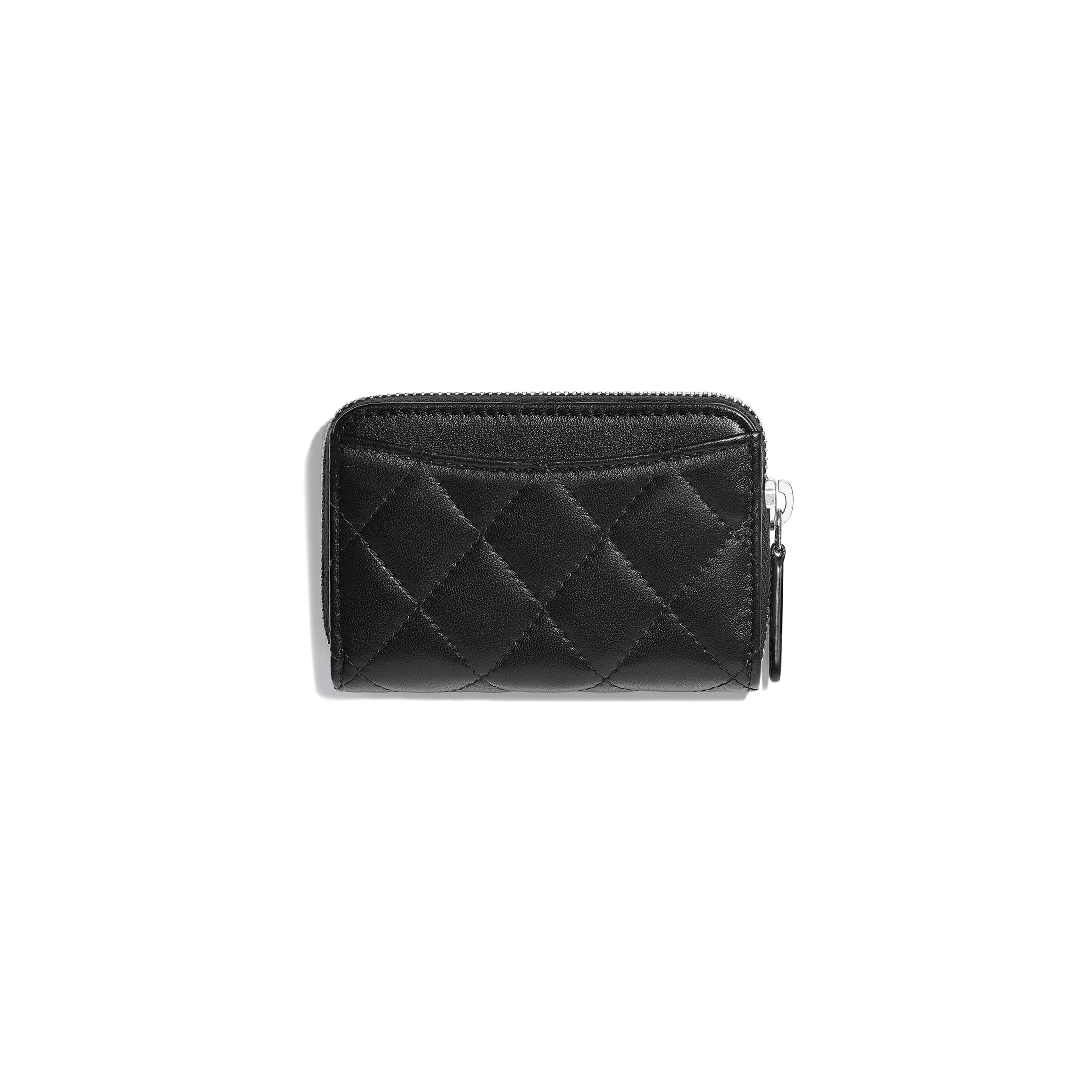 Classic Zipped Card Holder - Black - Lambskin - Alternative view - see full sized version