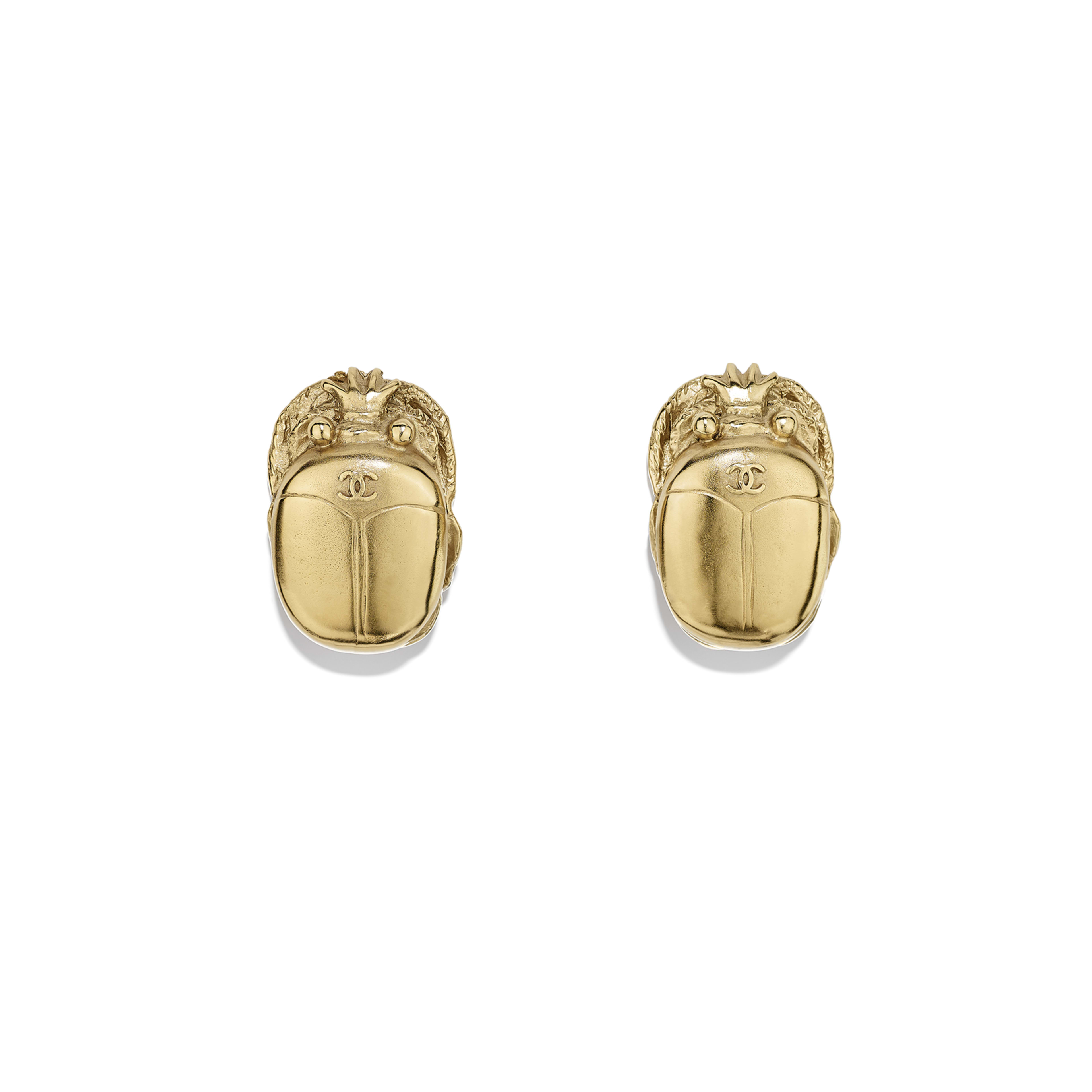 Clip-on Earrings - Gold - Metal - Default view - see full sized version
