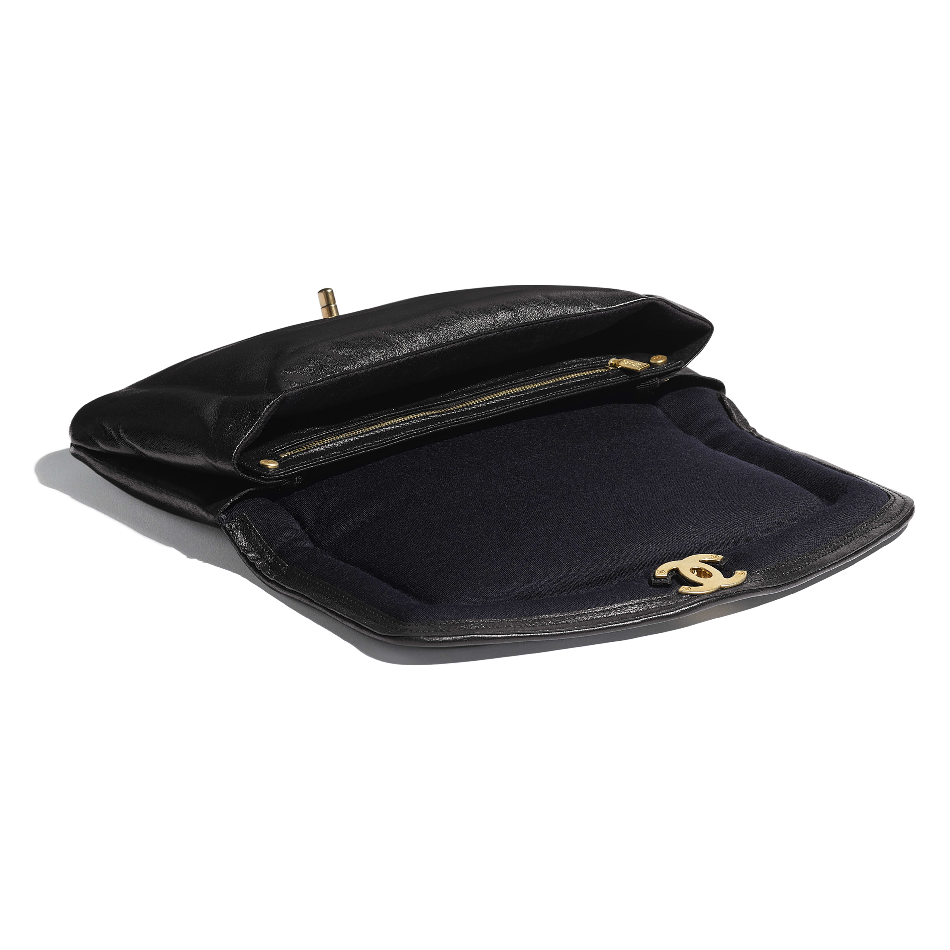 Clutch - Black - Lambskin & Gold-Tone Metal - Other view - see full sized version