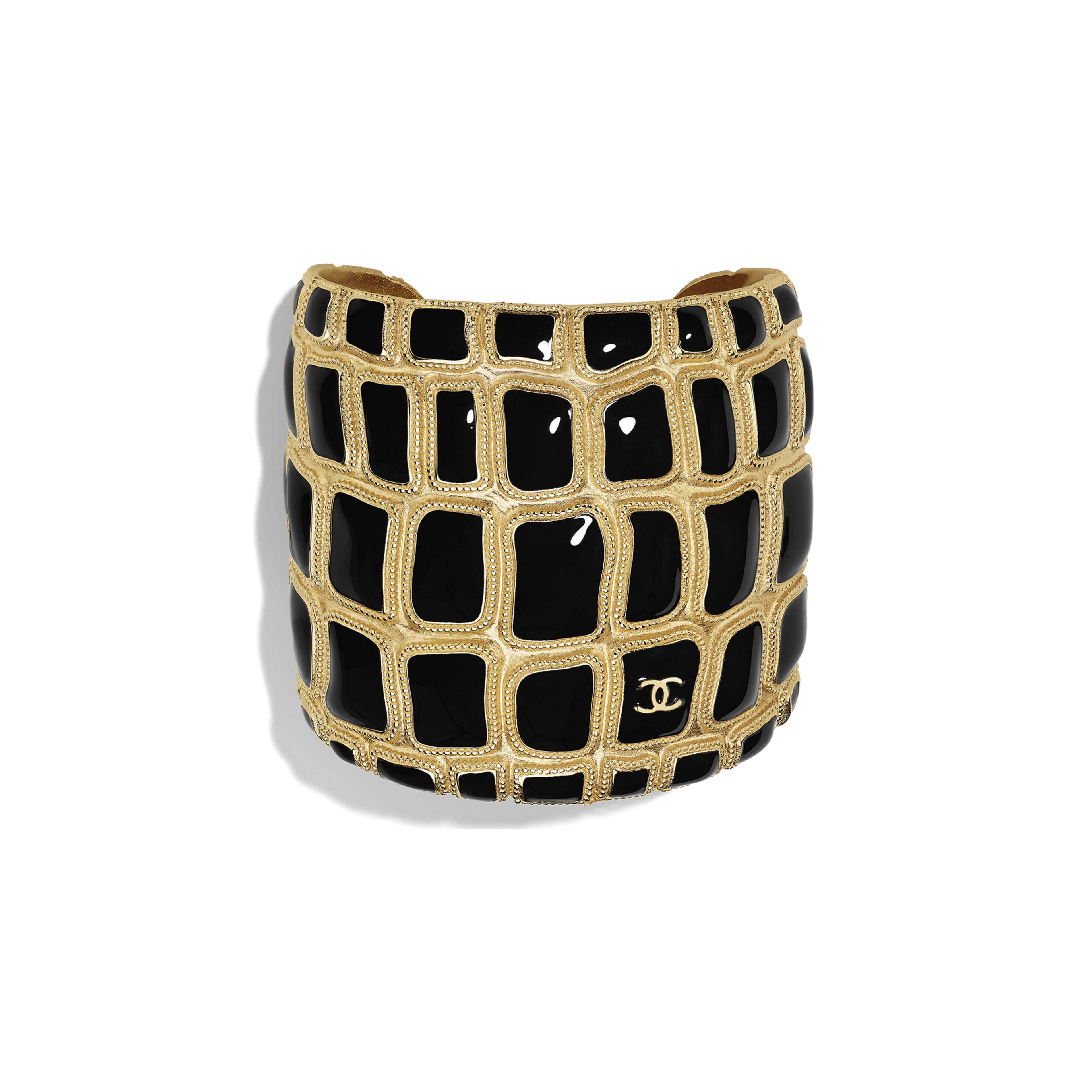Cuff - Gold & Black - Metal & Resin - Default view - see full sized version