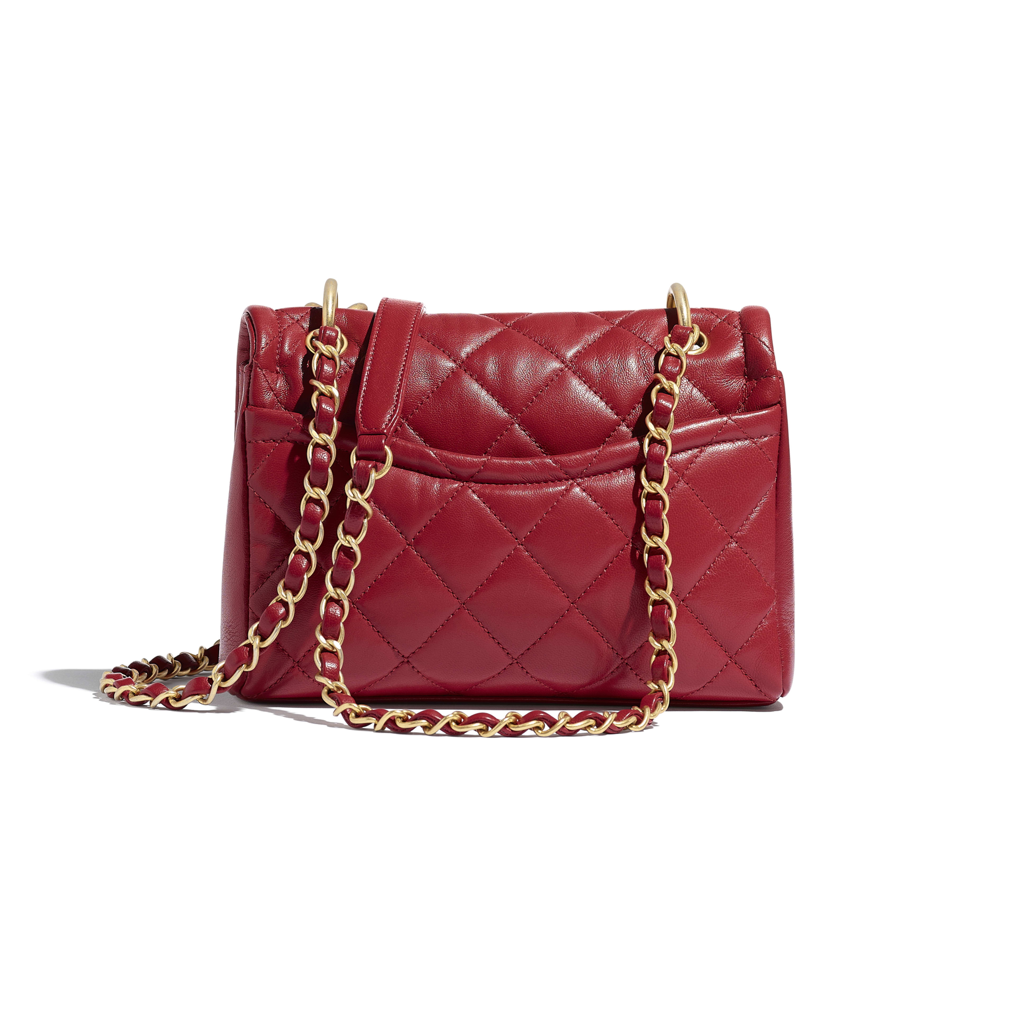 Flap Bag - Red - Lambskin - Alternative view - see full sized version