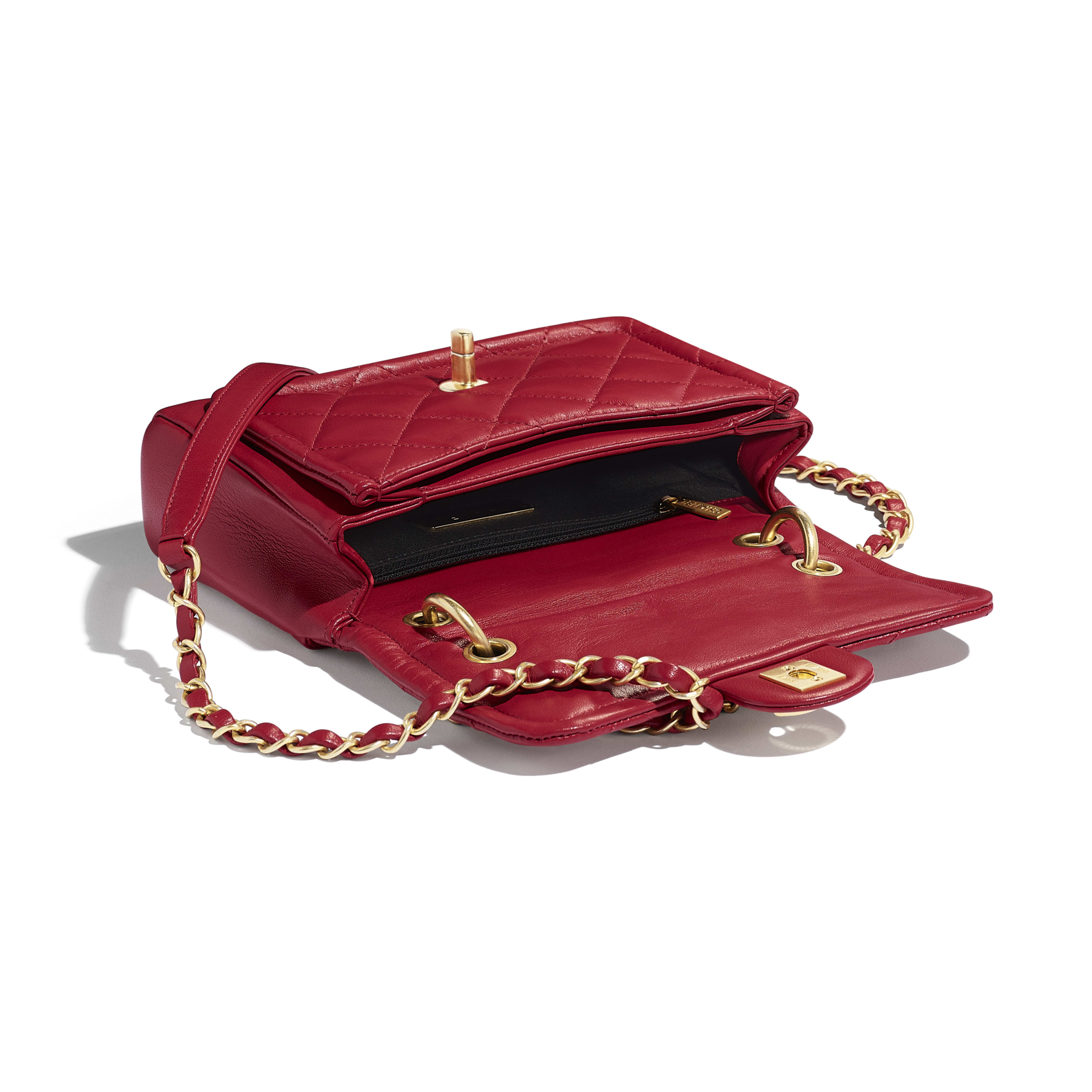 Flap Bag - Red - Lambskin - Other view - see full sized version