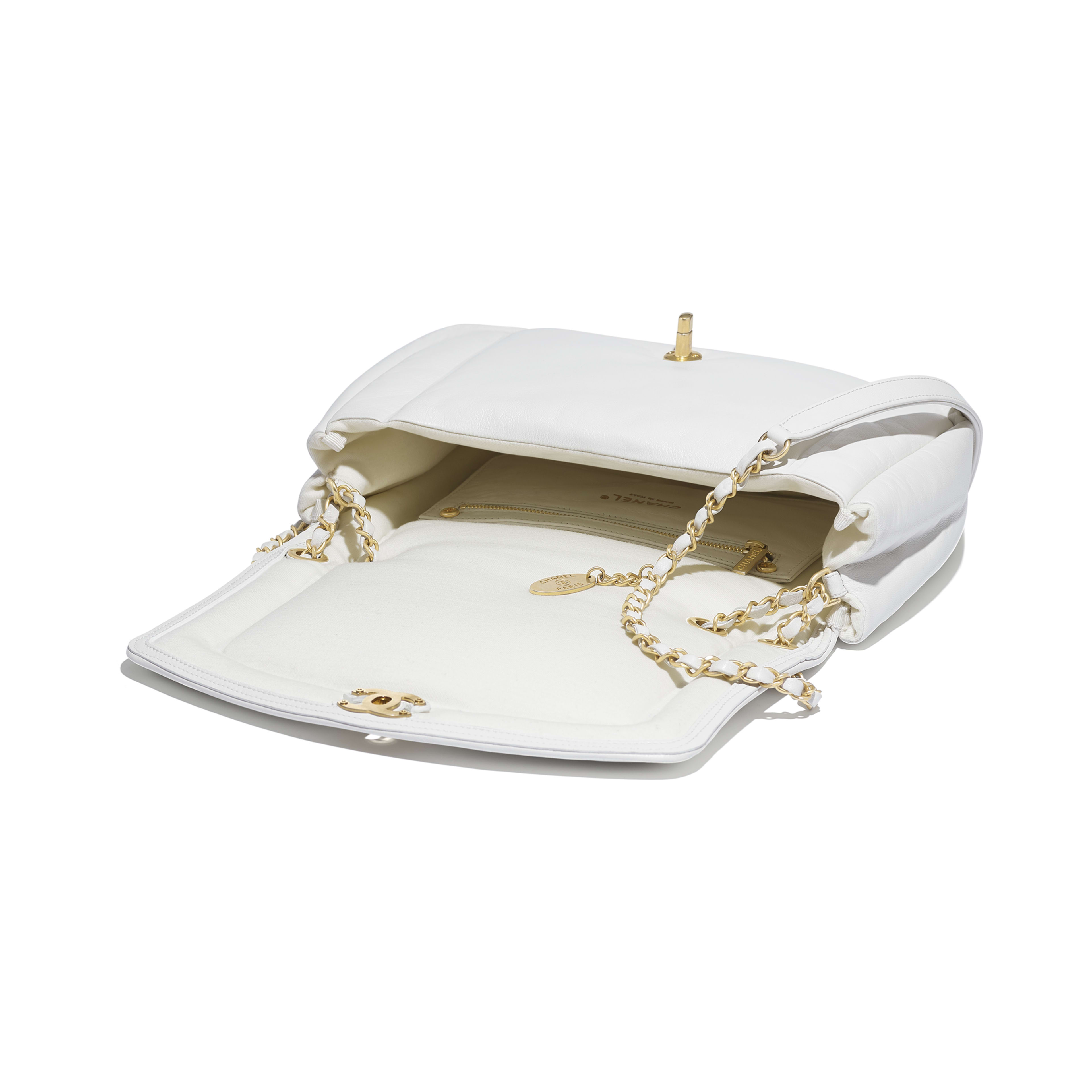 Flap Bag - White - Lambskin & Gold-Tone Metal - Other view - see full sized version