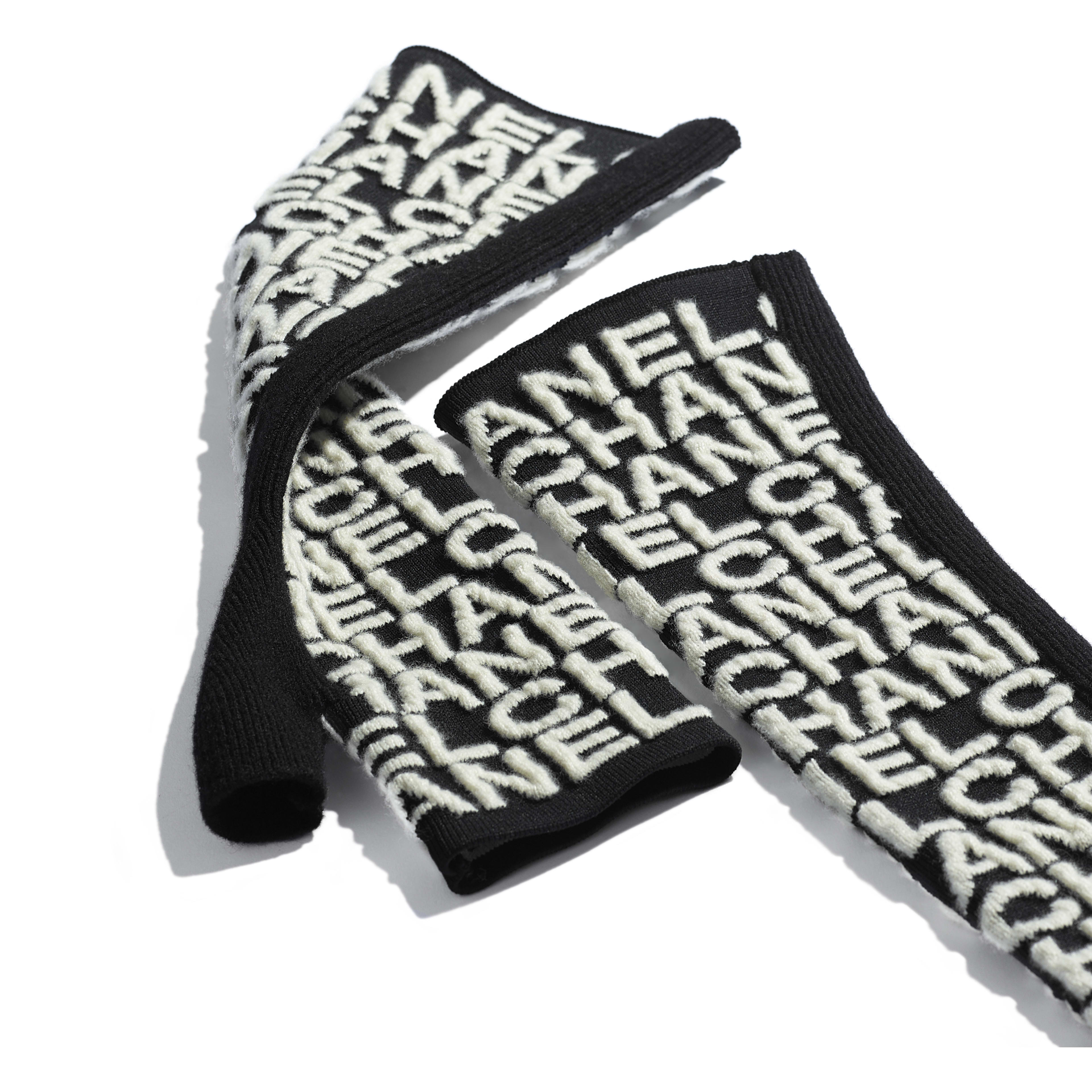Gloves - Black & Ivory - Cashmere & Mixed Fibres - Alternative view - see full sized version