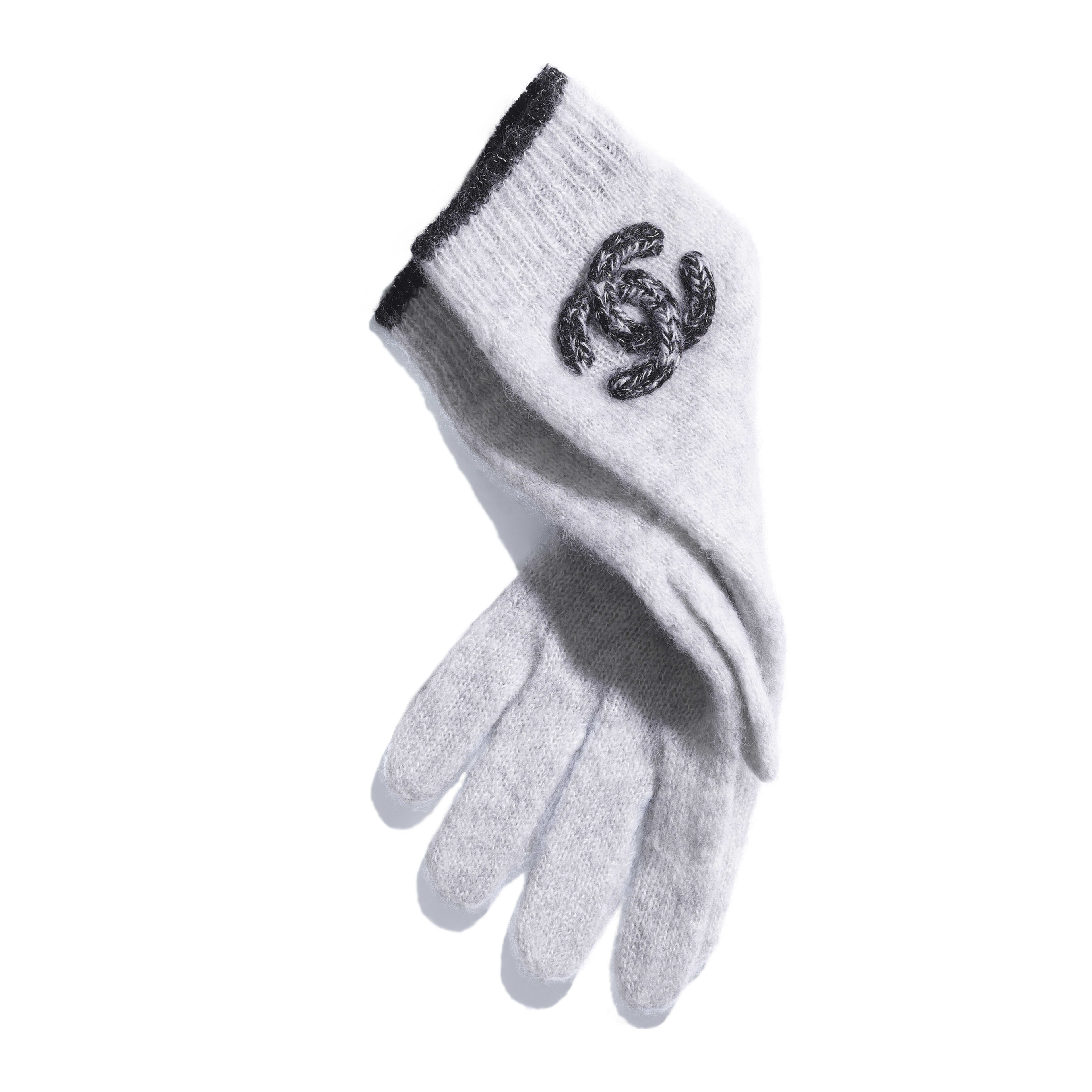 Gloves - Grey - Cashmere & Silk - Alternative view - see full sized version