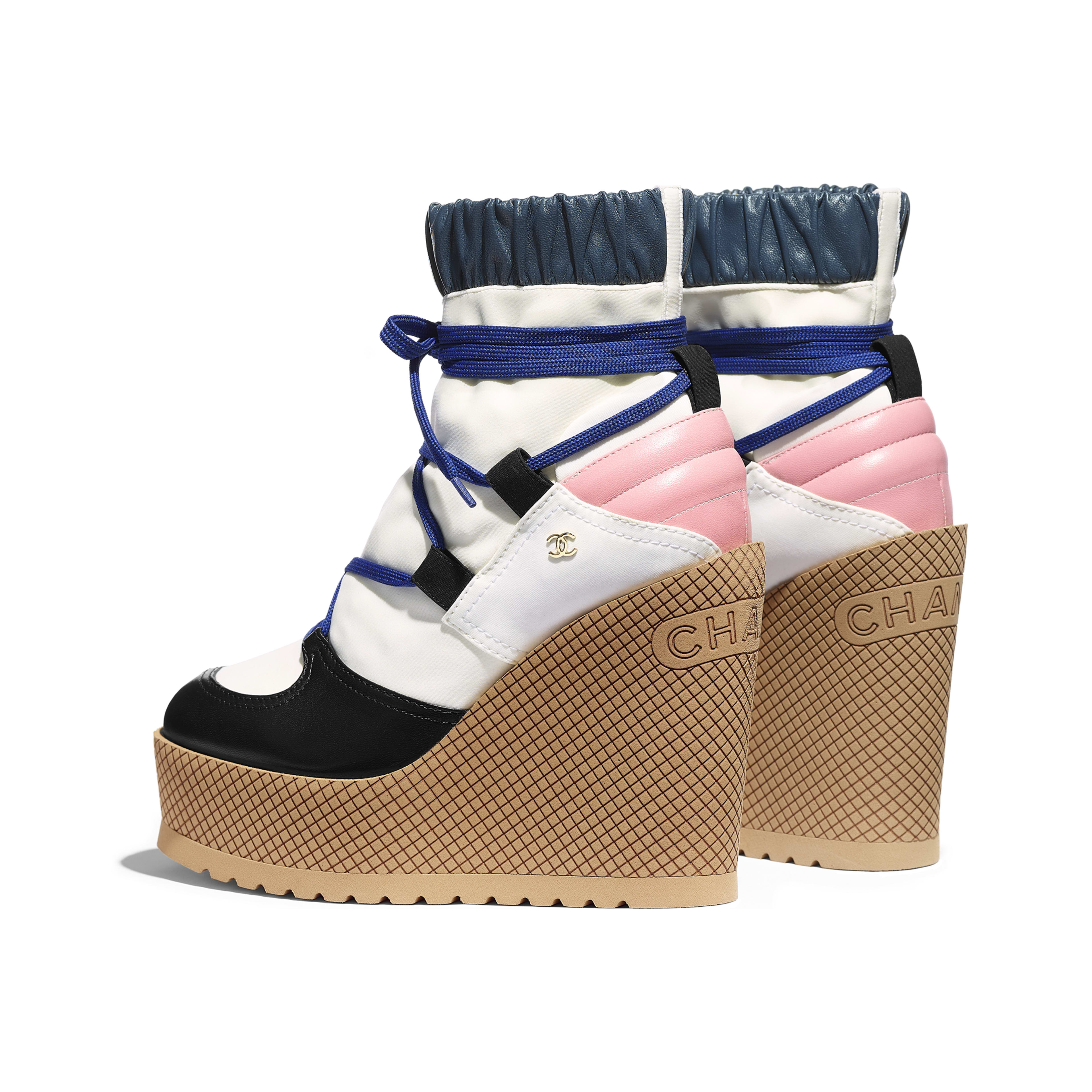 Lace-Ups - Ivory, Rose, Blue & Black - Lambskin & Mixed Fibers - Other view - see full sized version