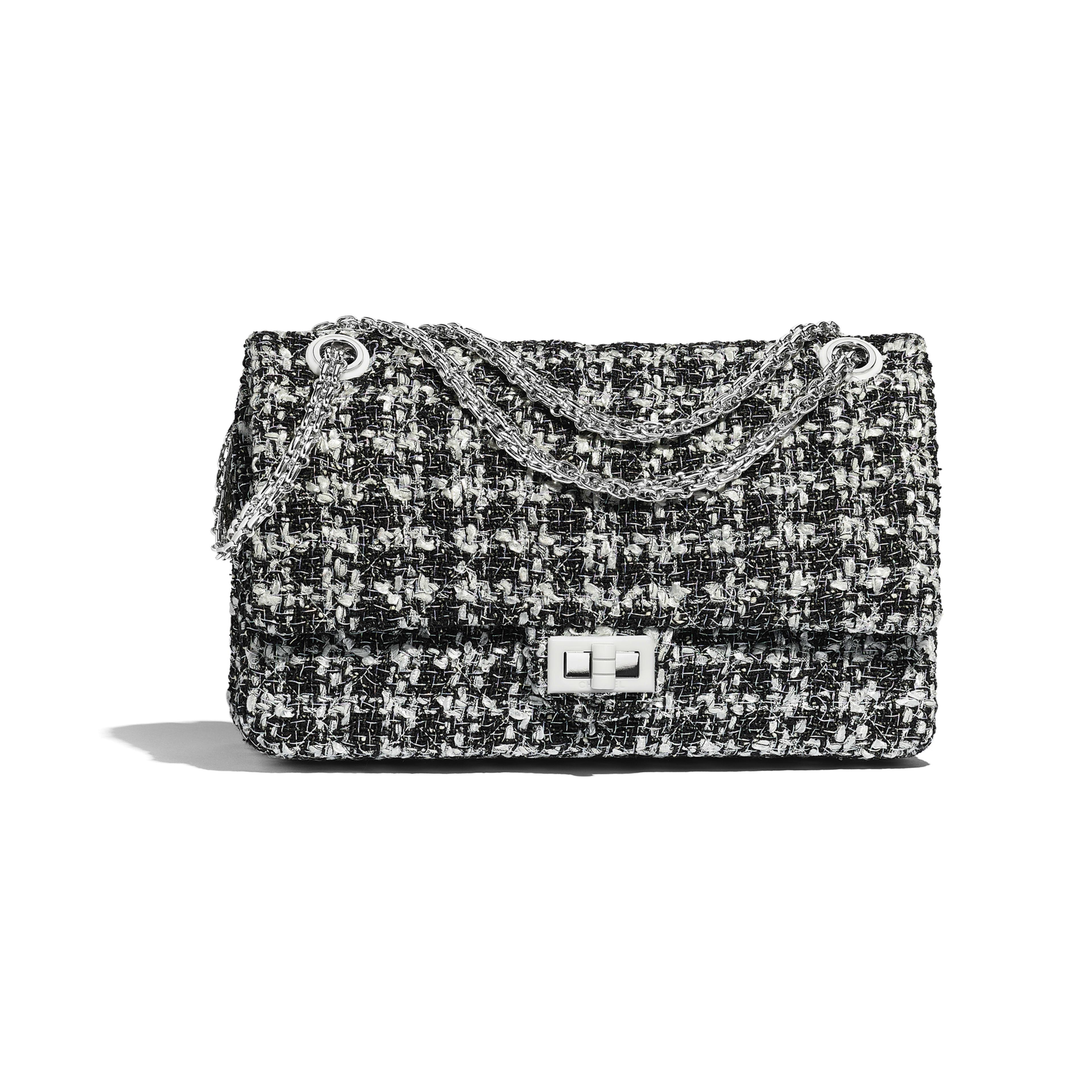 2d183a29bac Large 2.55 Handbag - Black   White - Tweed