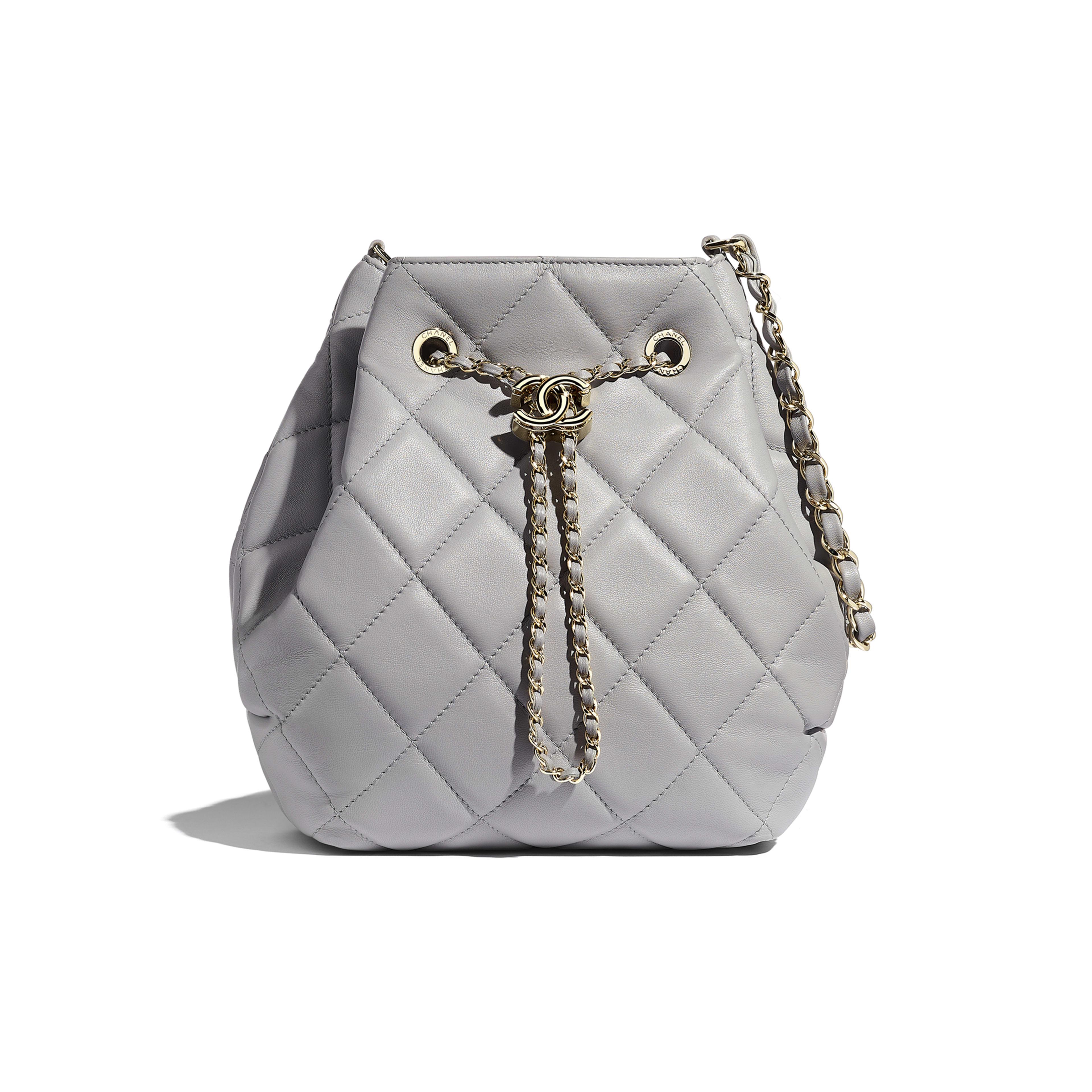 Light Gray Large Drawstring Bag